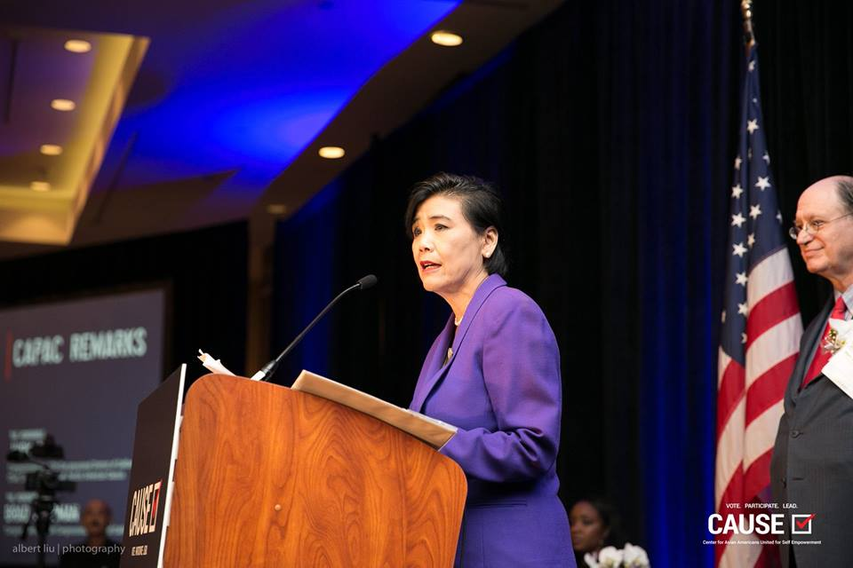 Judy Chu speaking at the 2018 CAUSE Annual Gala