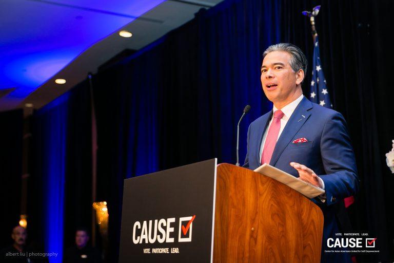 Rob Bonta speaking to the 2018 CAUSE Annual Gala