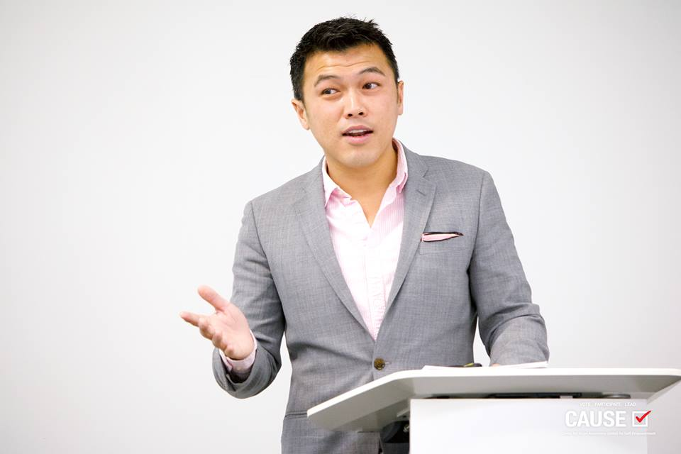 Stephen Cheung speaking to the 2018 CAUSE Leadership Institute