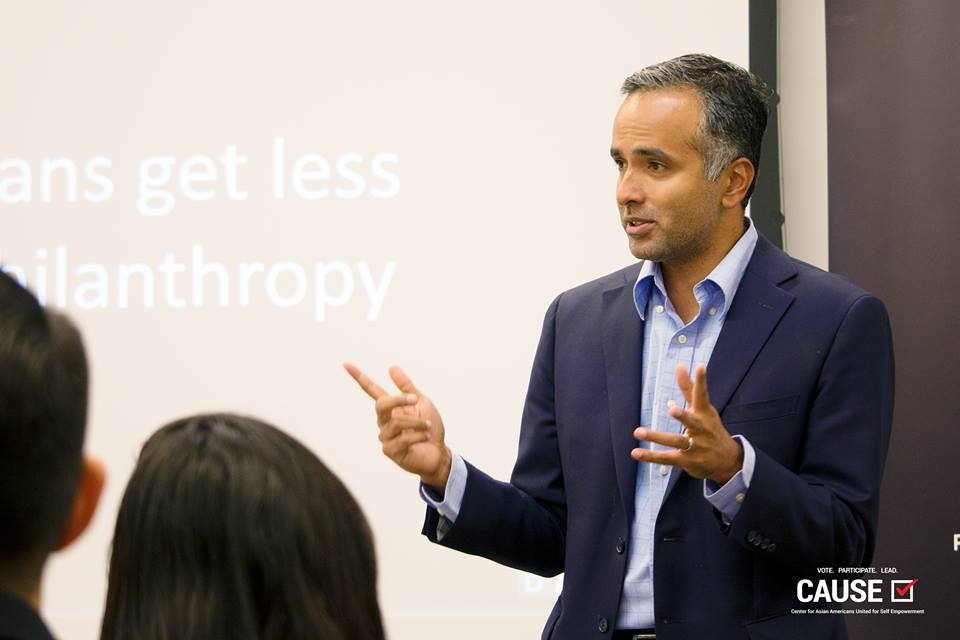 Karthick Ramakrishnan speaking to the 2018 CAUSE Leadership Institute
