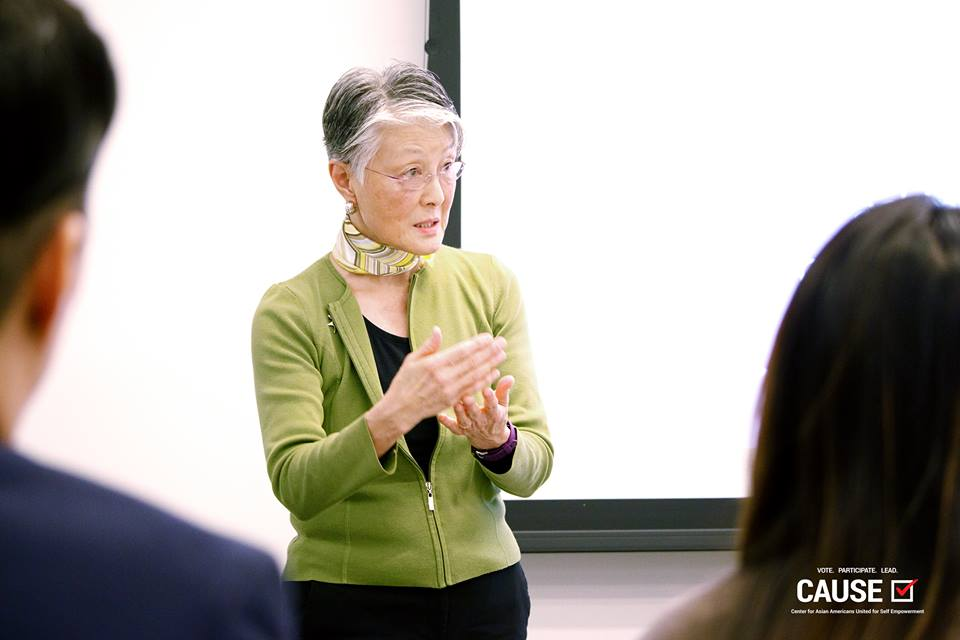 Debbie Ching speaking to the 2018 CAUSE Leadership Institute