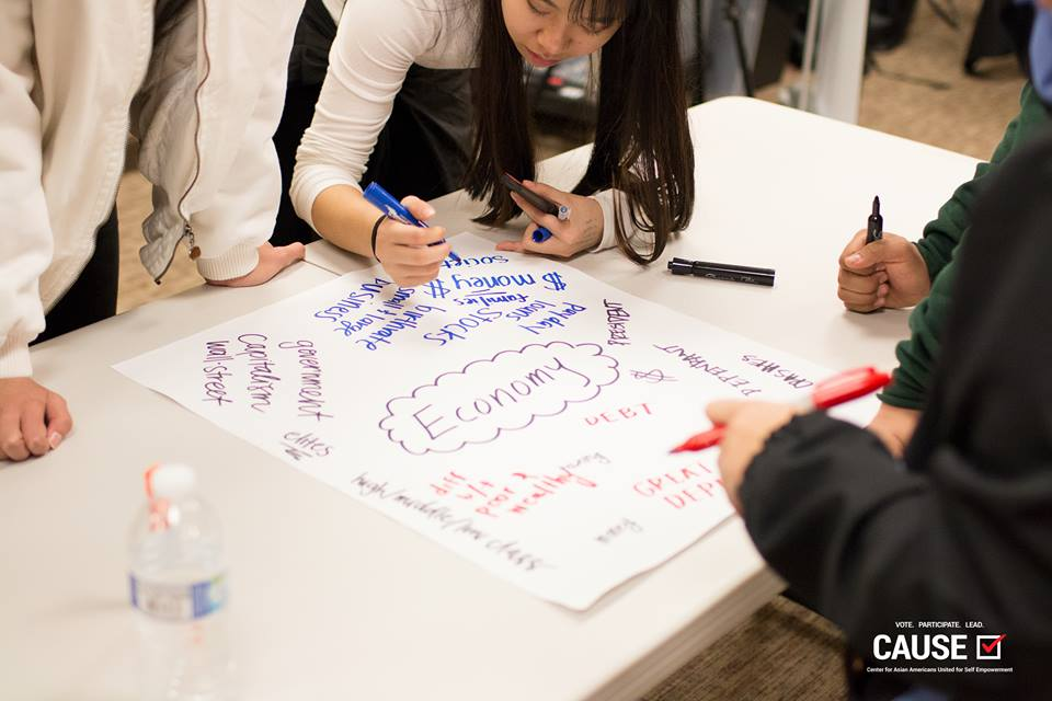 Make Civics Real high school civic engagement workshop held by the 2017 CAUSE VOICE Fellowship