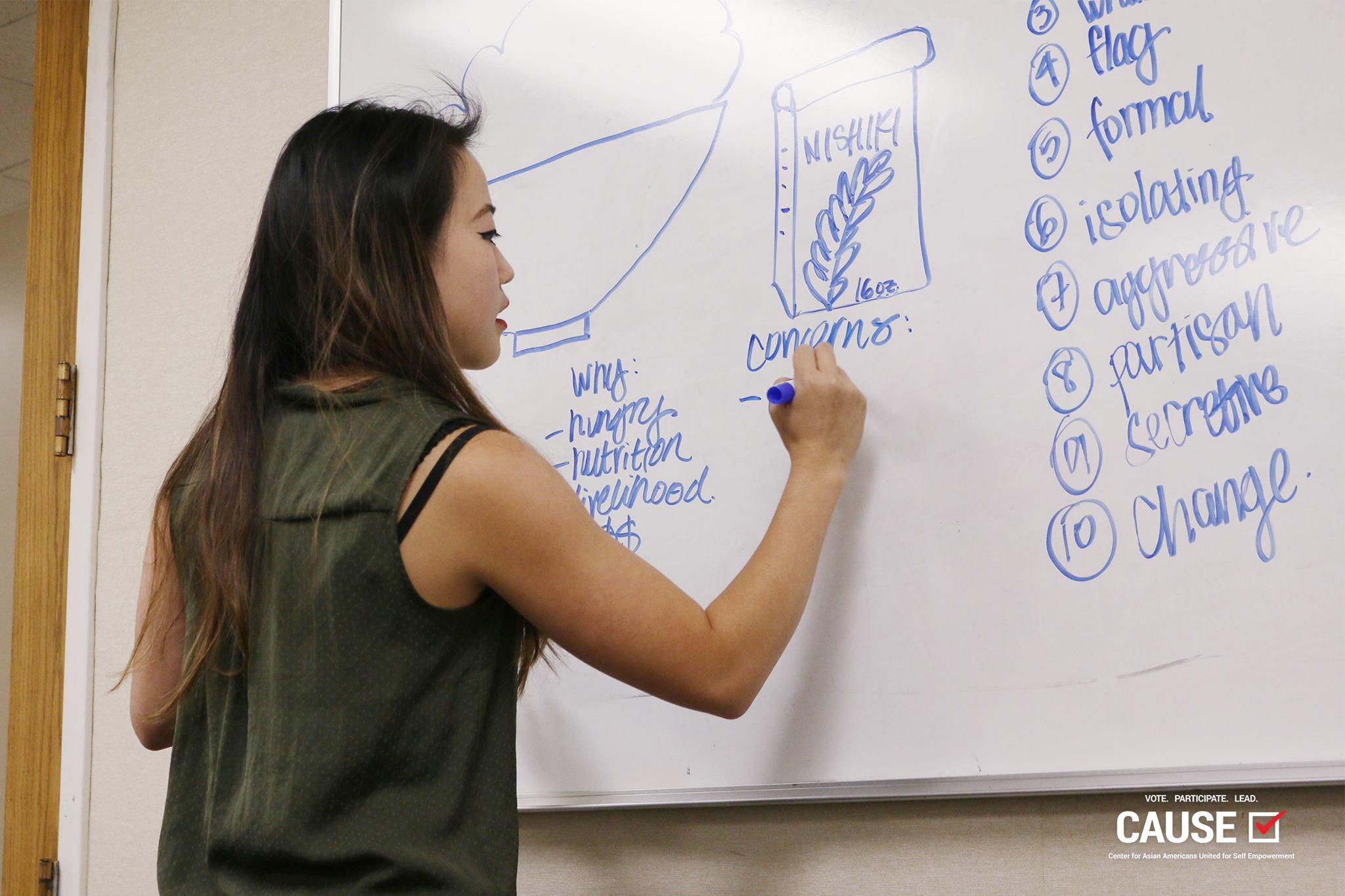 Kim Yamasaki speaking to 2017 VOICE Fellows