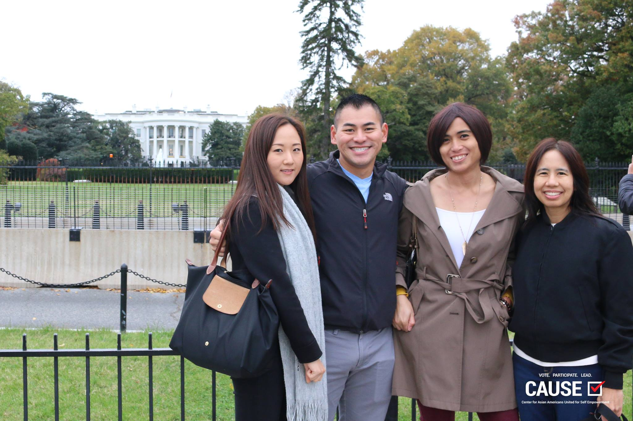 2017 Veterans Initiative fellows in front of the White House
