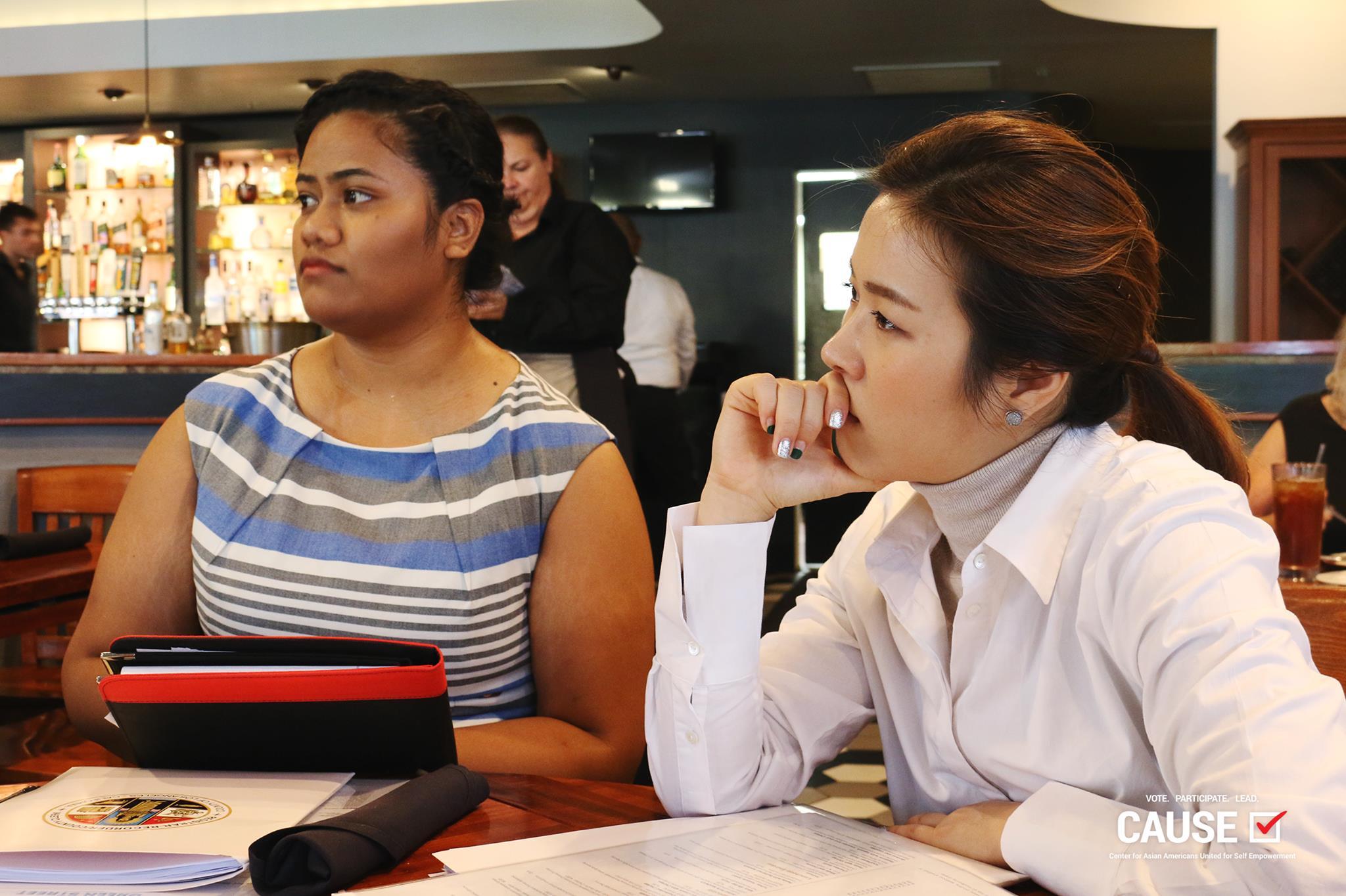 Angelina Finau and Jina Kim, CAUSE VOICE Fellowship