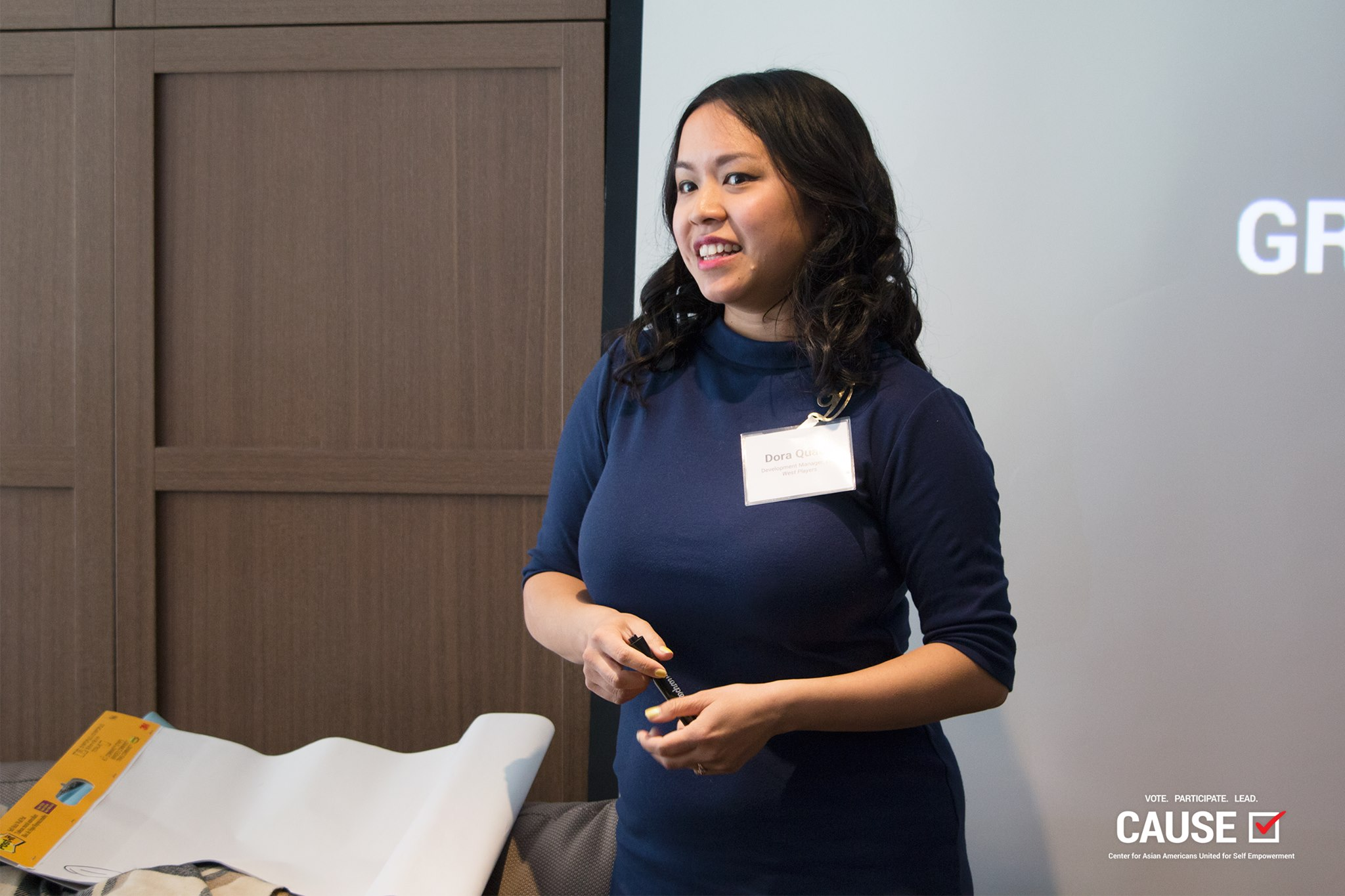 Dora Quach speaking to the 2019 CAUSE Leadership Network