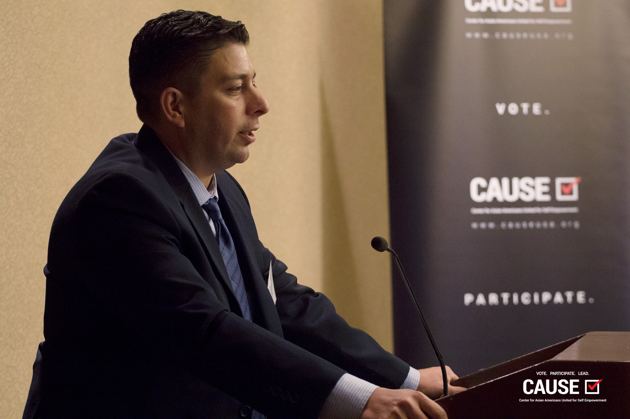 Jim Crawford speaking at the 2017 Veterans Initiative Kickoff