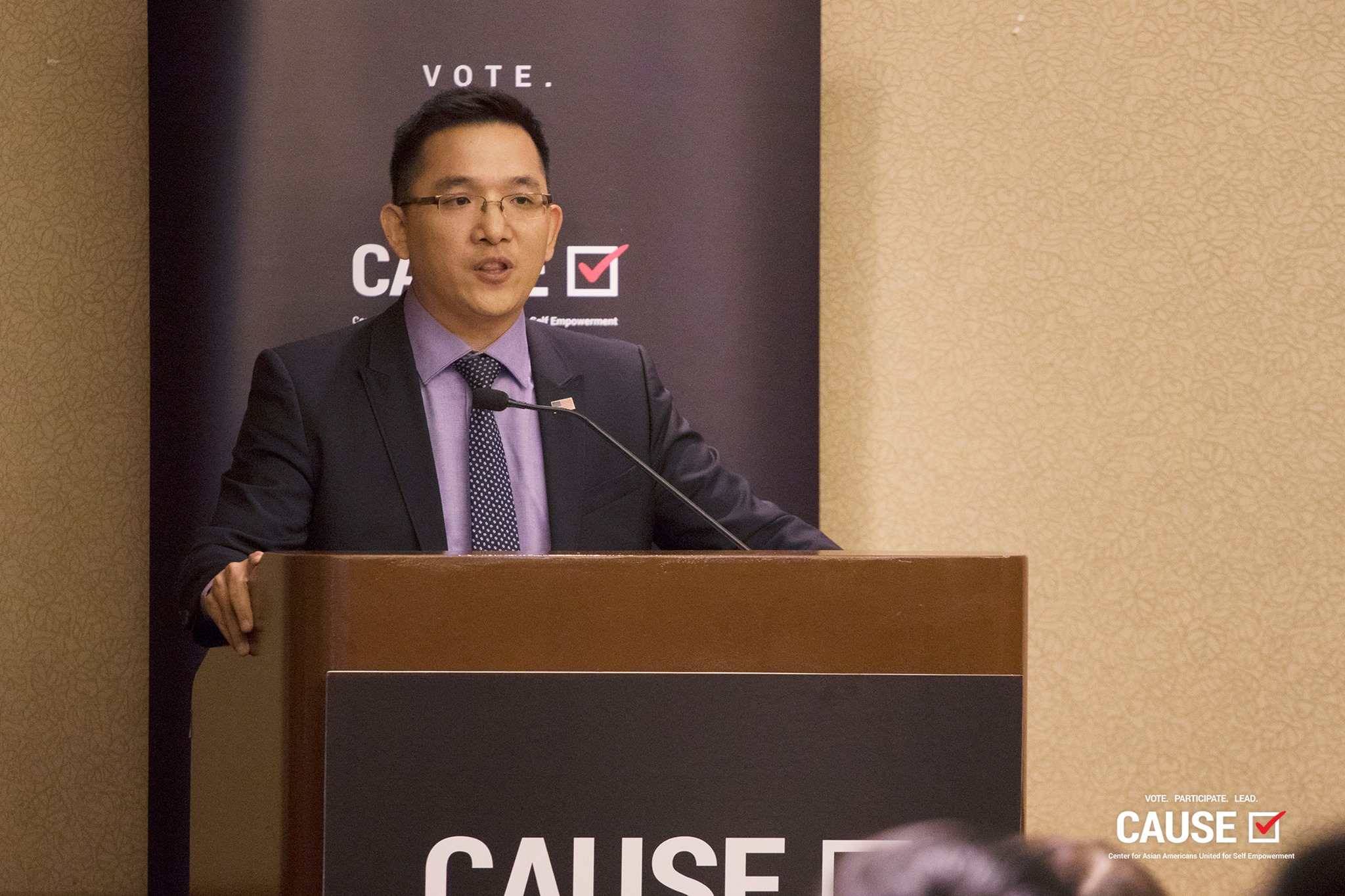 Jay Chen speaking at the 2017 Veterans Initiative Kickoff