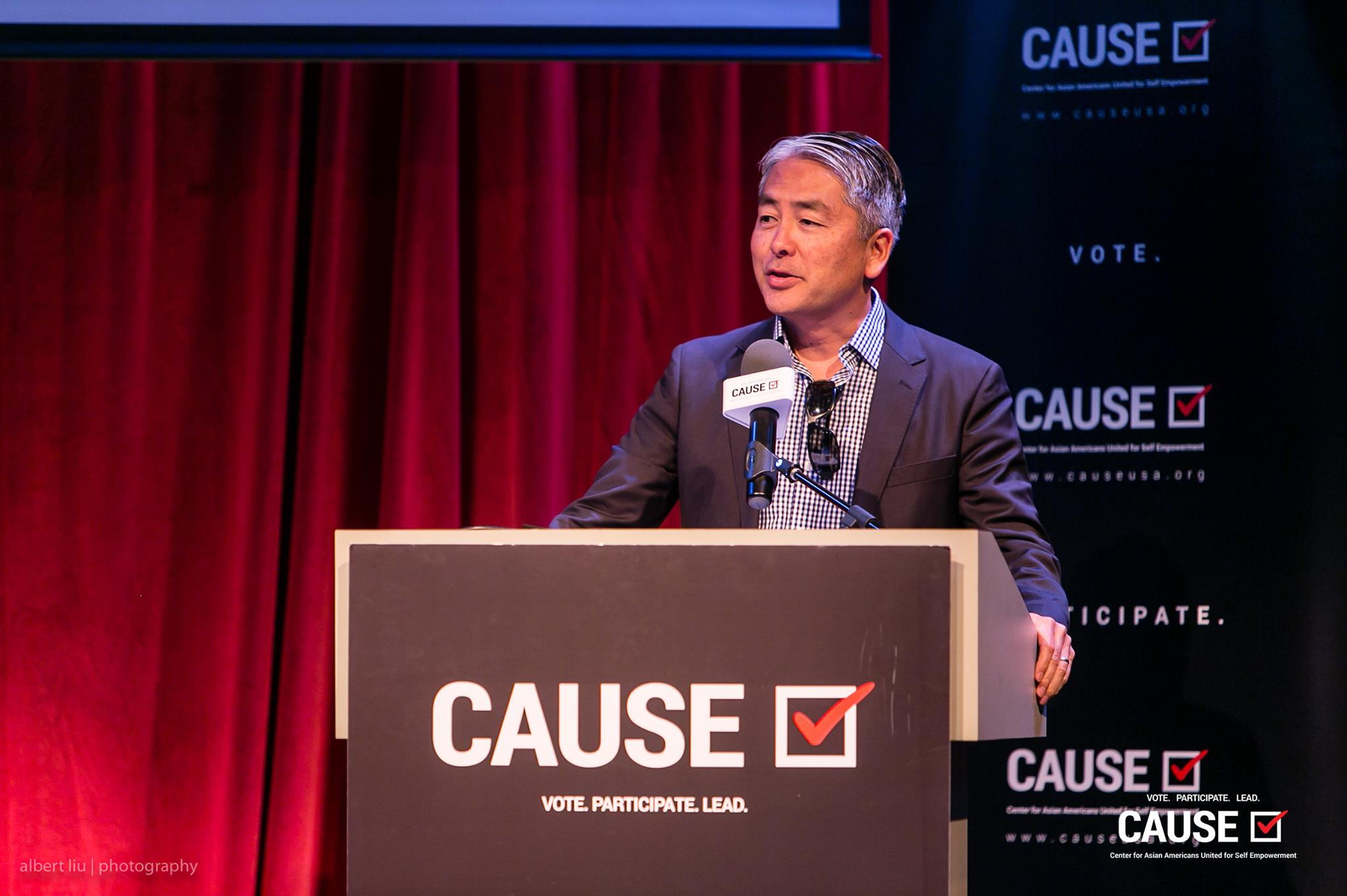 Al Muratsuchi speaking at the 2017 CAUSE Leadership Academy Graduation