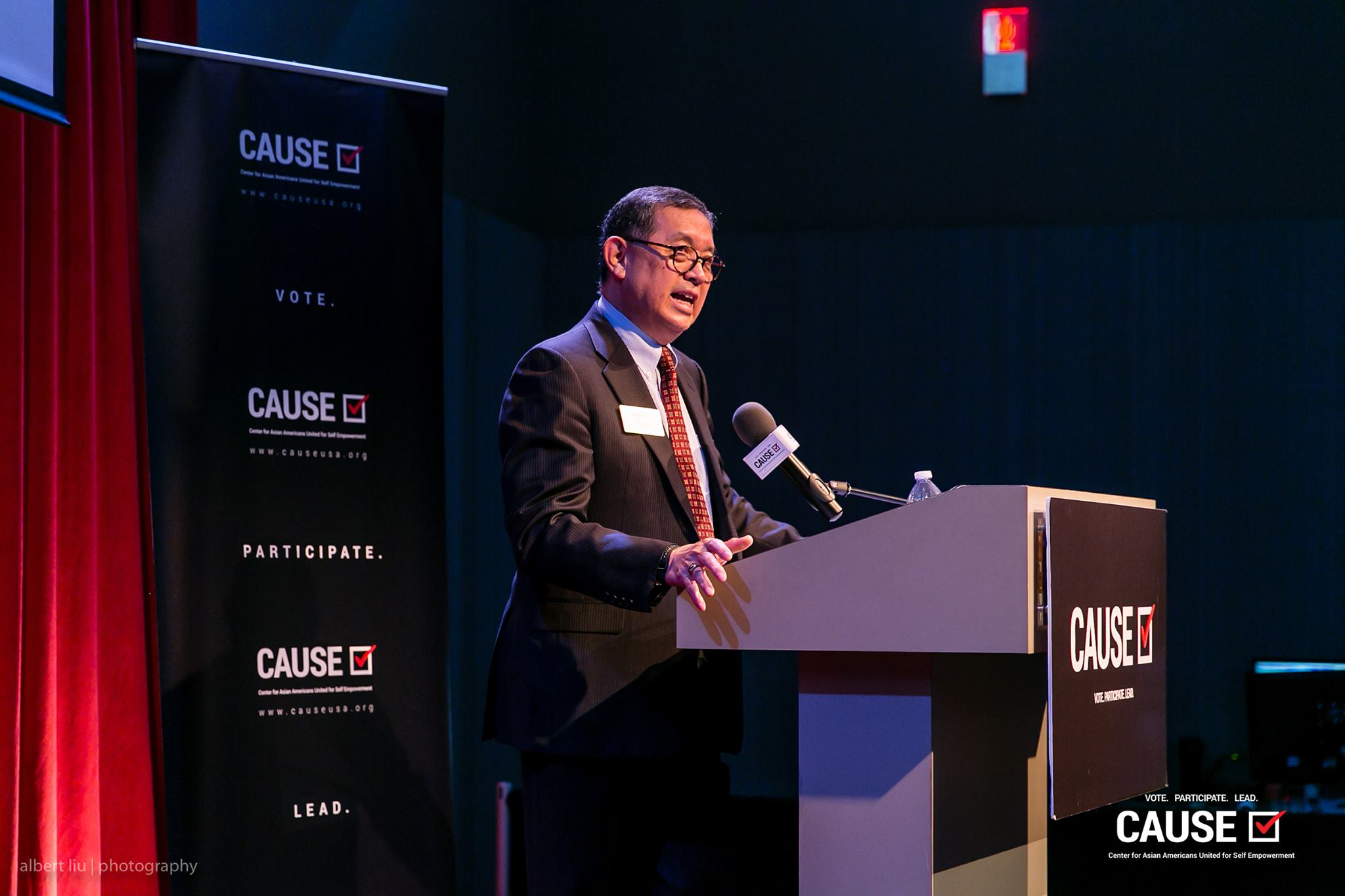 Ben Wong speaking at the 2017 CAUSE Leadership Academy Graduation