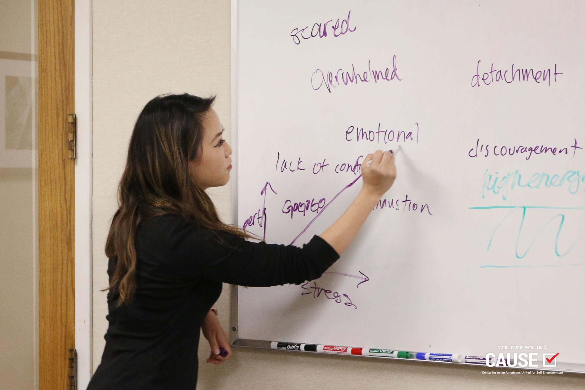 Kim Yamasaki presenting to the 2017 CAUSE Leadership Academy