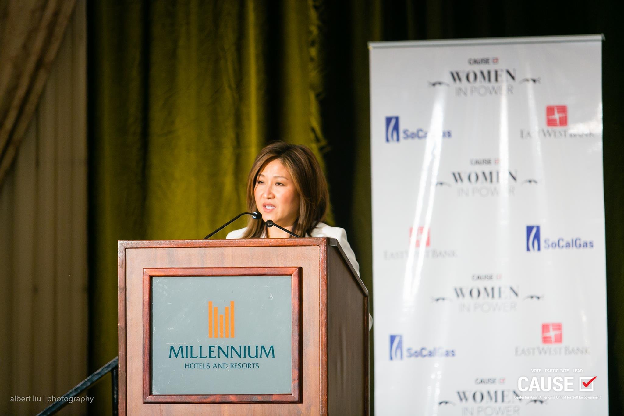 Nita Song speaking at the 2017 Women in Power Leadership Conference