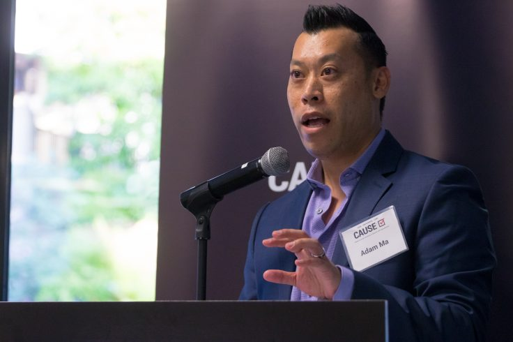 Adam Ma speaking at the 2017 CAUSE Leadership Network Reception