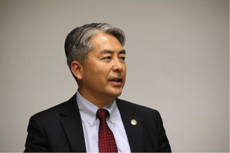 Al Muratsuchi speaking to the 2017 CAUSE Political Institute