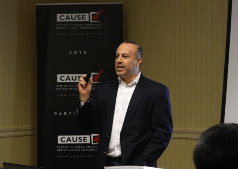 Mike Madrid speaking to the 2017 CAUSE Political Institute