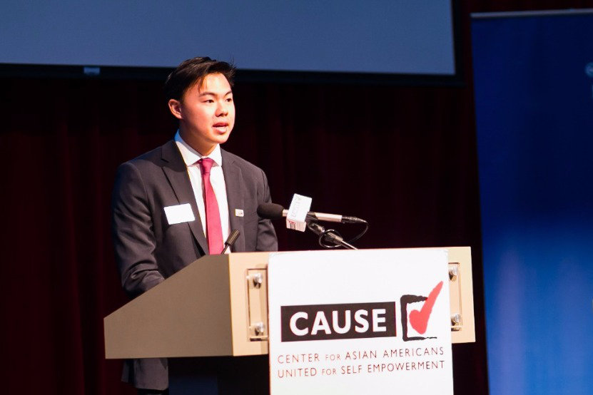 Kevin Hsu speaking at the 2016 CAUSE Leadership Academy Graduation