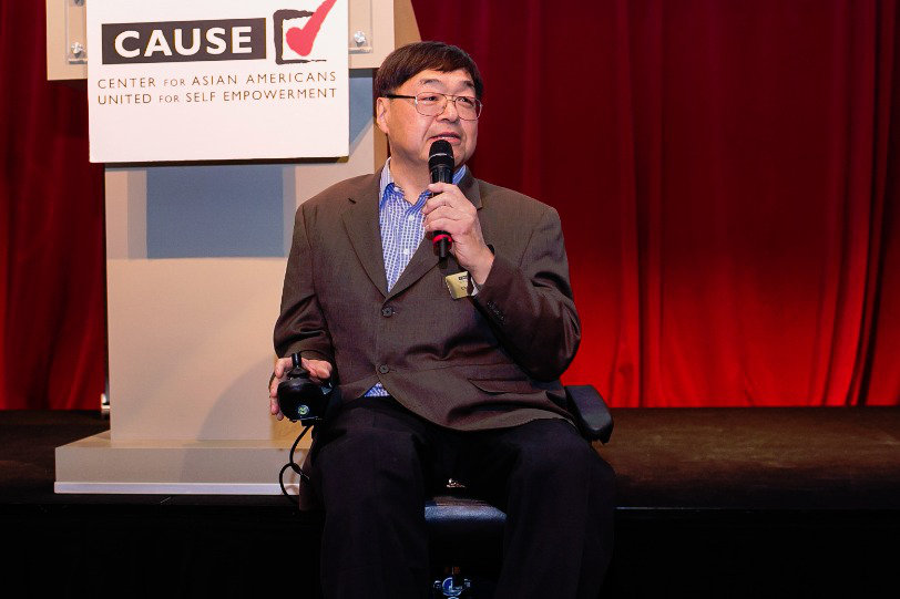 Charlie Woo speaking at the 2016 CAUSE Leadership Academy Graduation