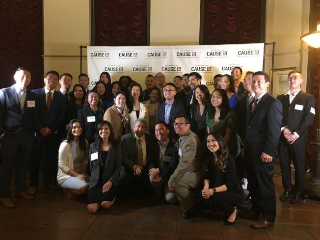 亞美政聯(CAUSE)於27日晚間在洛杉磯市政廳舉辦華裔青年政治領袖交流會。(記者林佩錦/攝影)