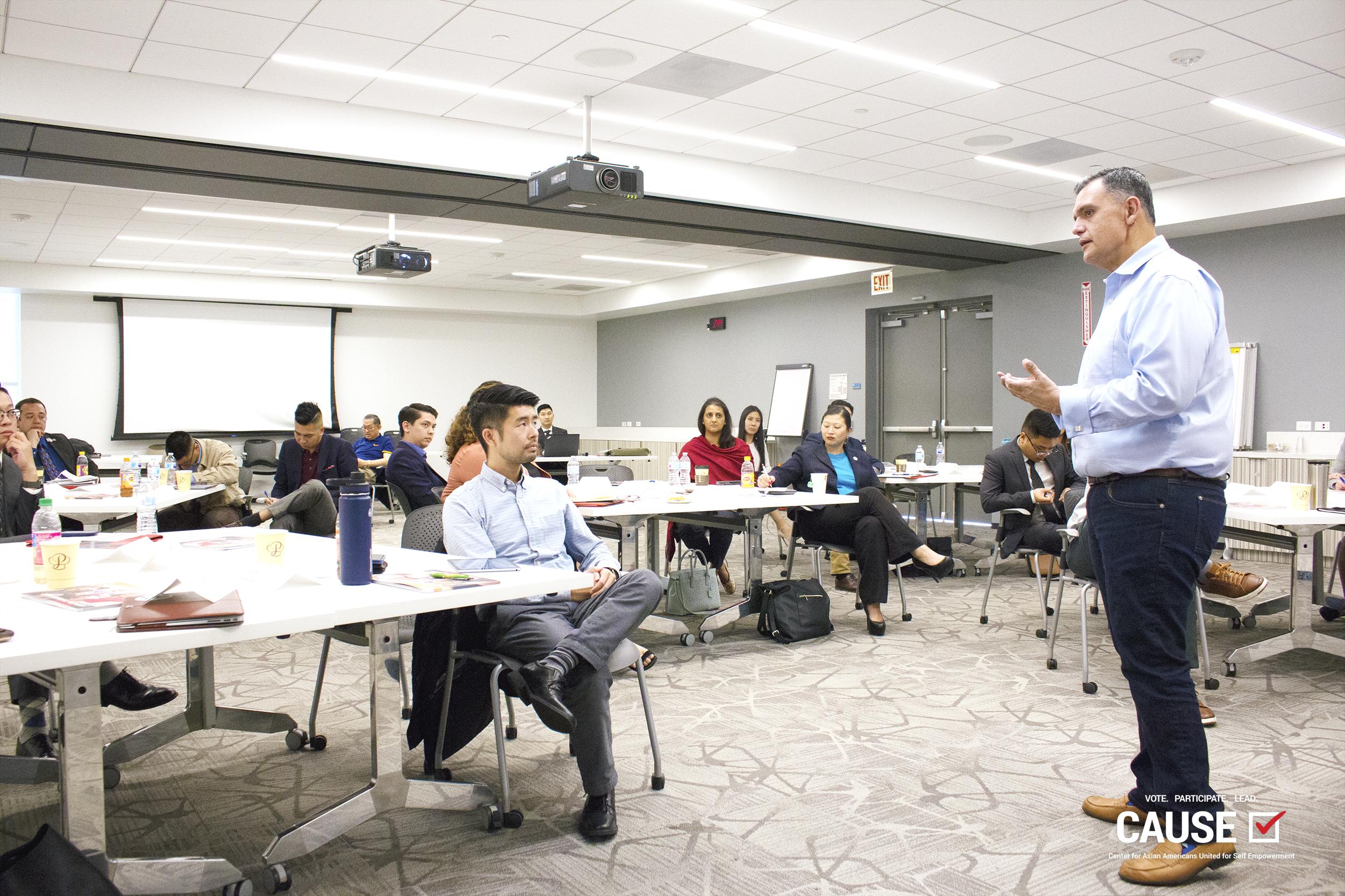 Jose Cornejo speaking to the 2019 CAUSE Leadership Institute