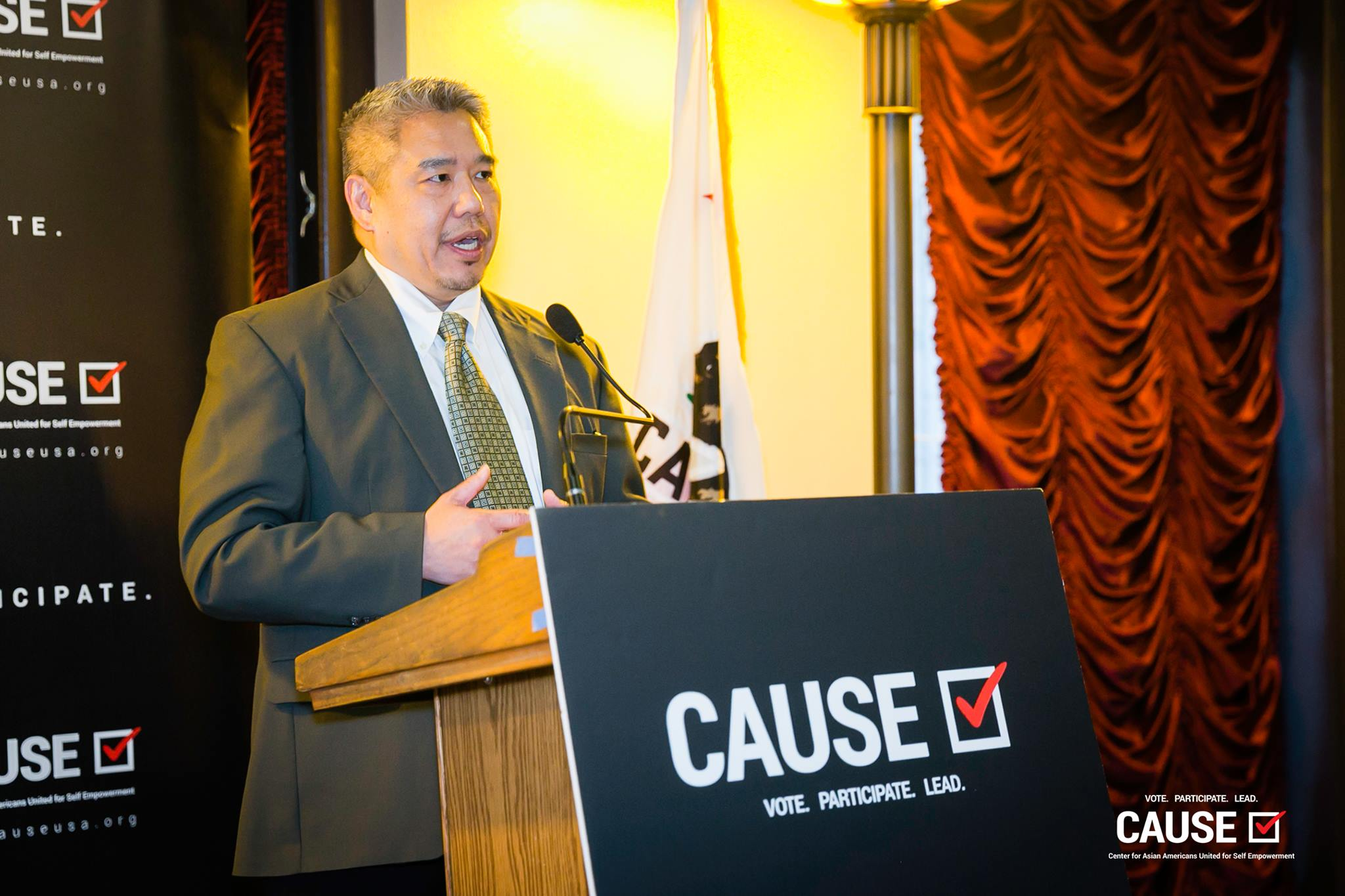 Bill Wong speaking at the 2019 CAUSE Leadership Network Reception