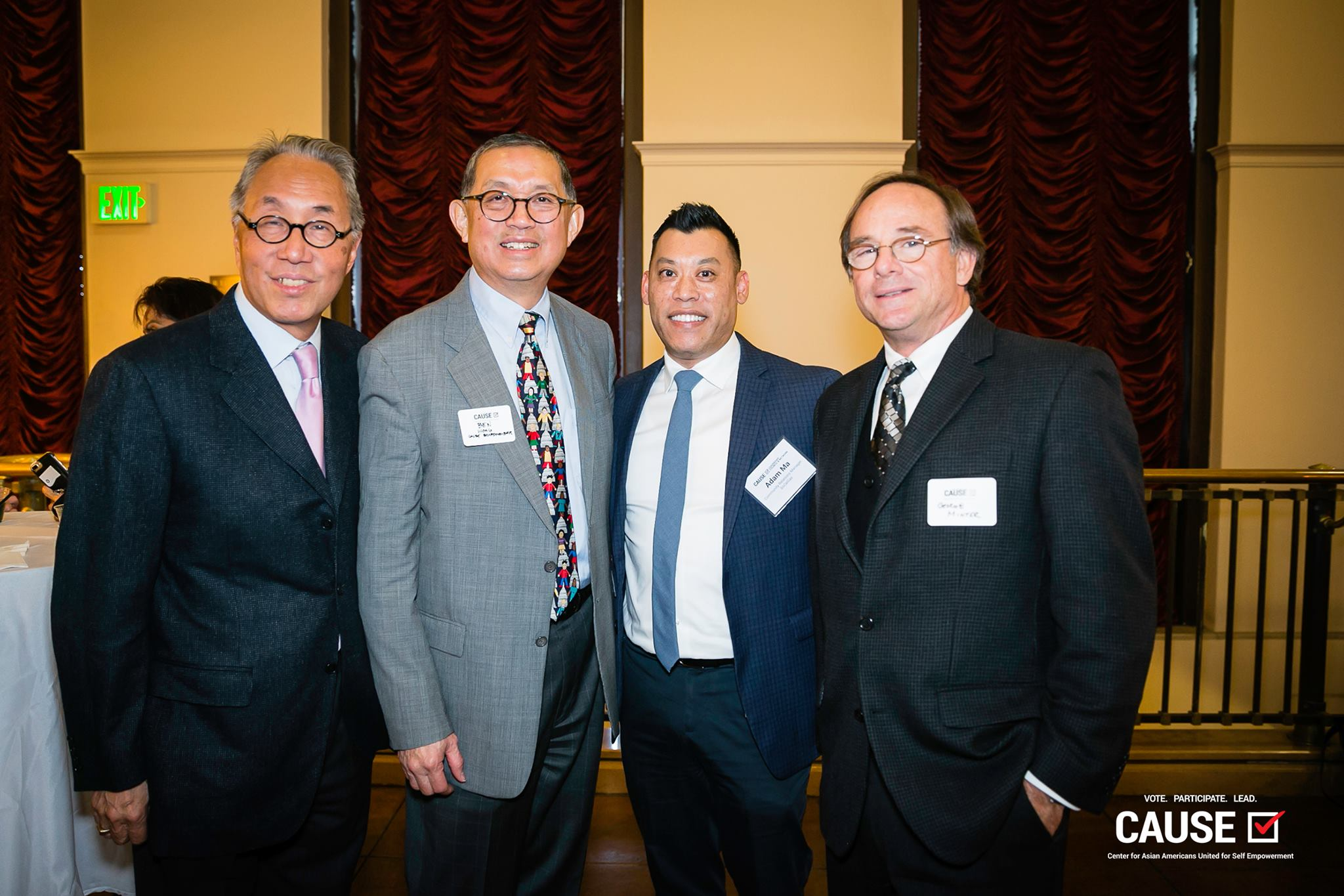Michael Woo, Ben Wong, and Adam Ma at the 2019 CAUSE Leadership Network Reception