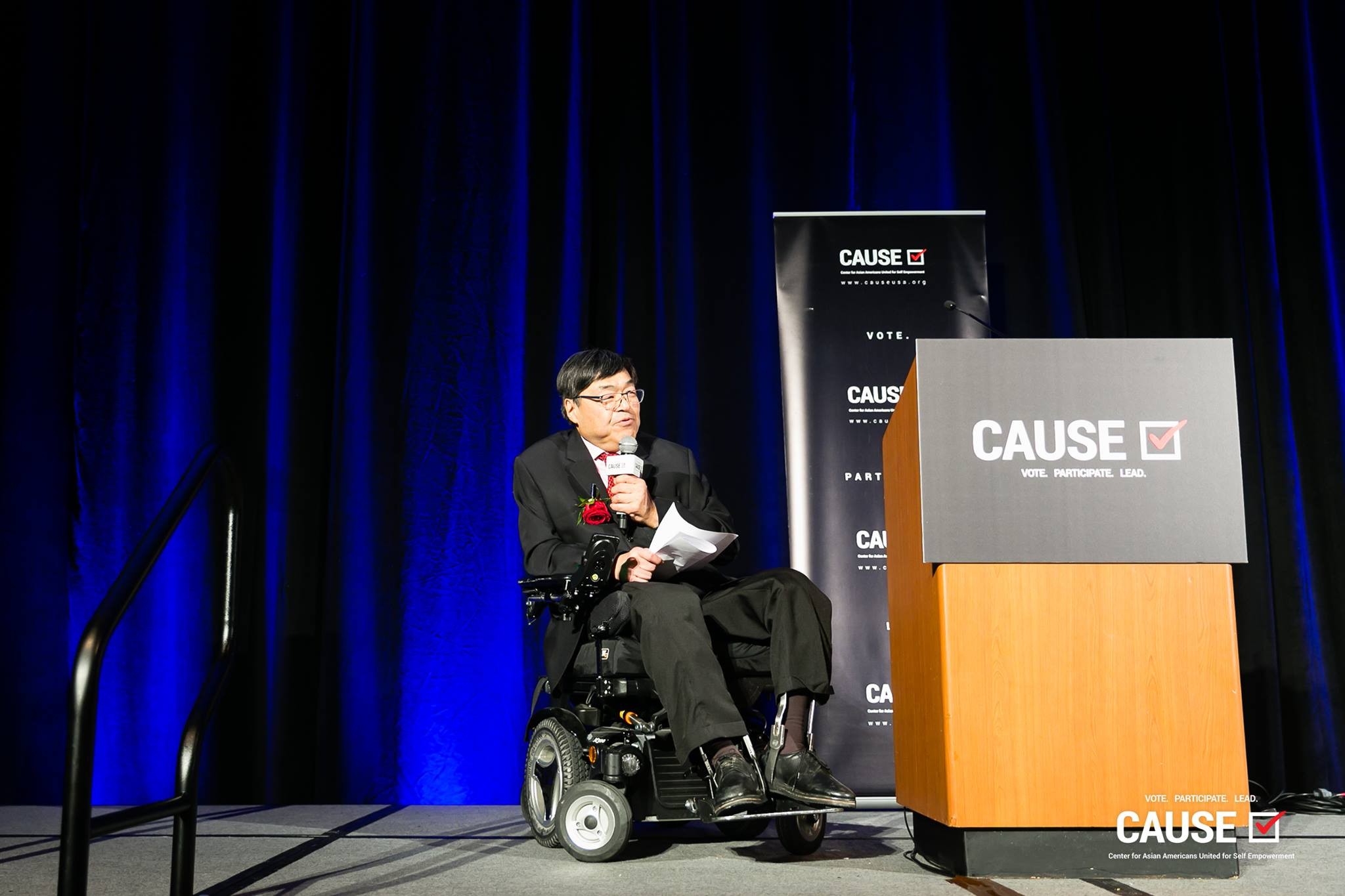 Charlie Woo speaking at the 2019 CAUSE Annual Gala: The Future We Define