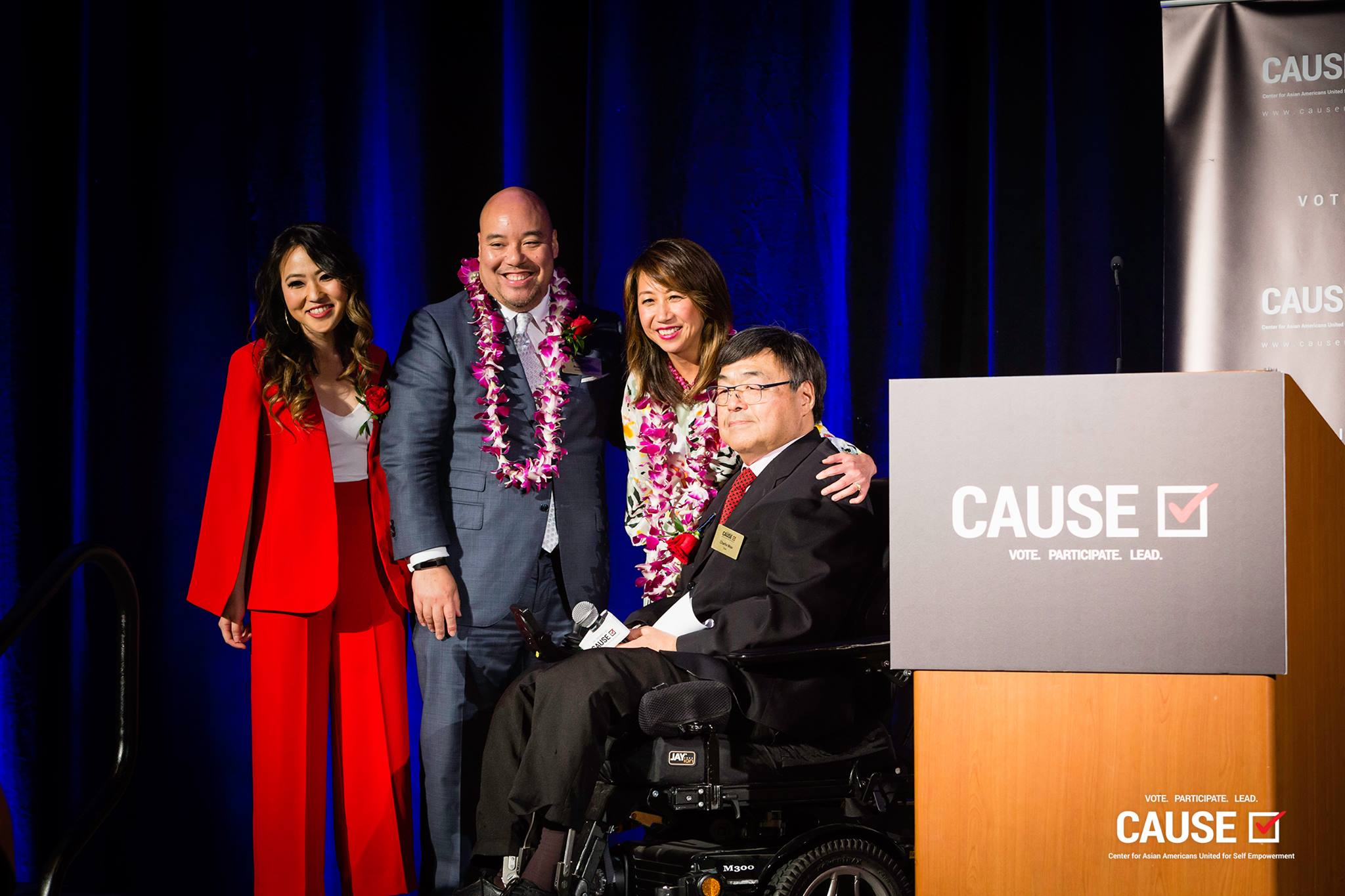 Kim Yamasaki, Ron Wong, Sandra Chen Lau, and Charlie Woo at the 2019 CAUSE Annual Gala: The Future We Define