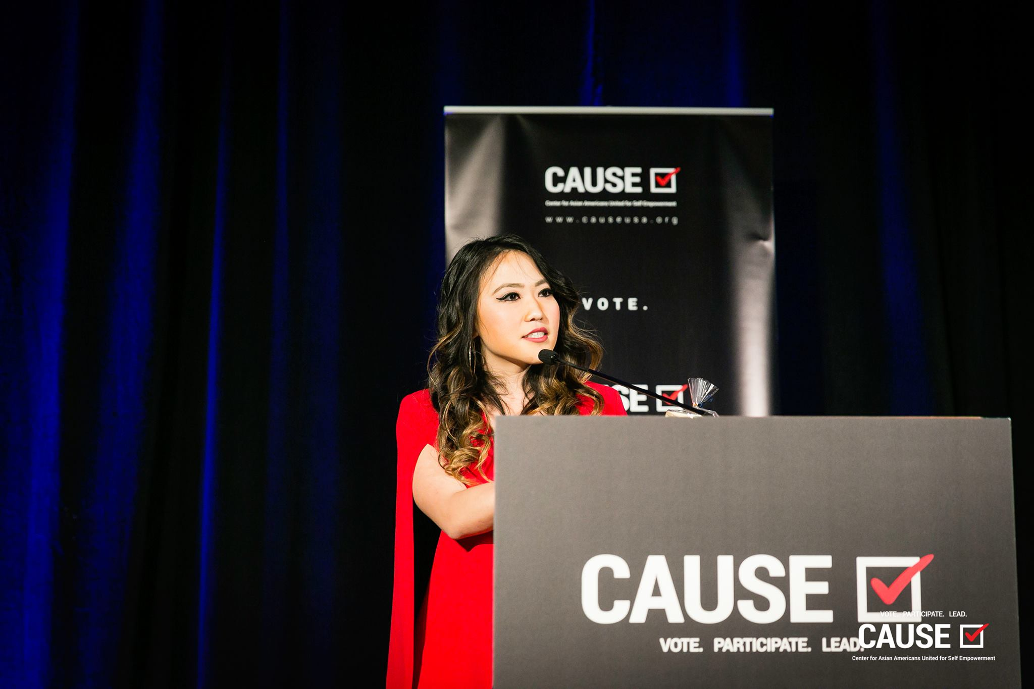 Kim Yamasaki speaking at the 2019 CAUSE Annual Gala: The Future We Define