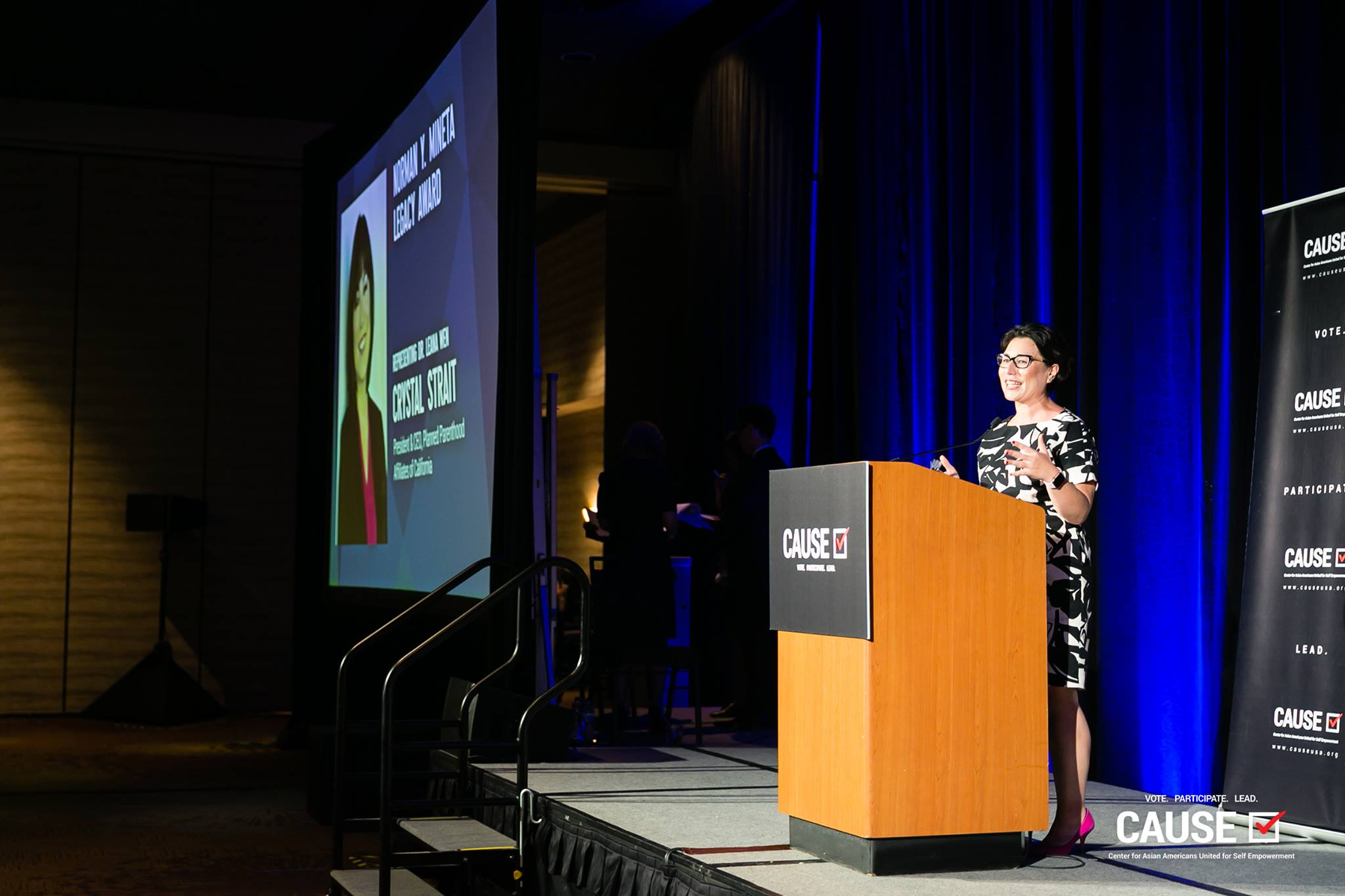 Crystal Strait speaking at the 2019 CAUSE Annual Gala: The Future We Define