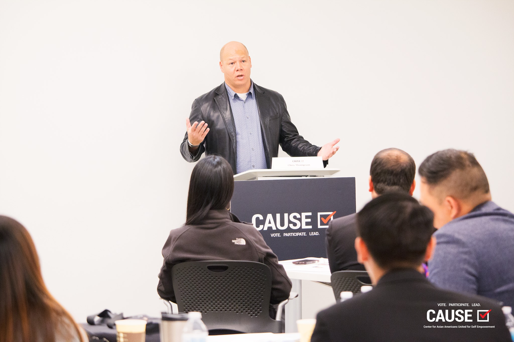 Chris Thompson speaking to the 2019 CAUSE Leadership Institute