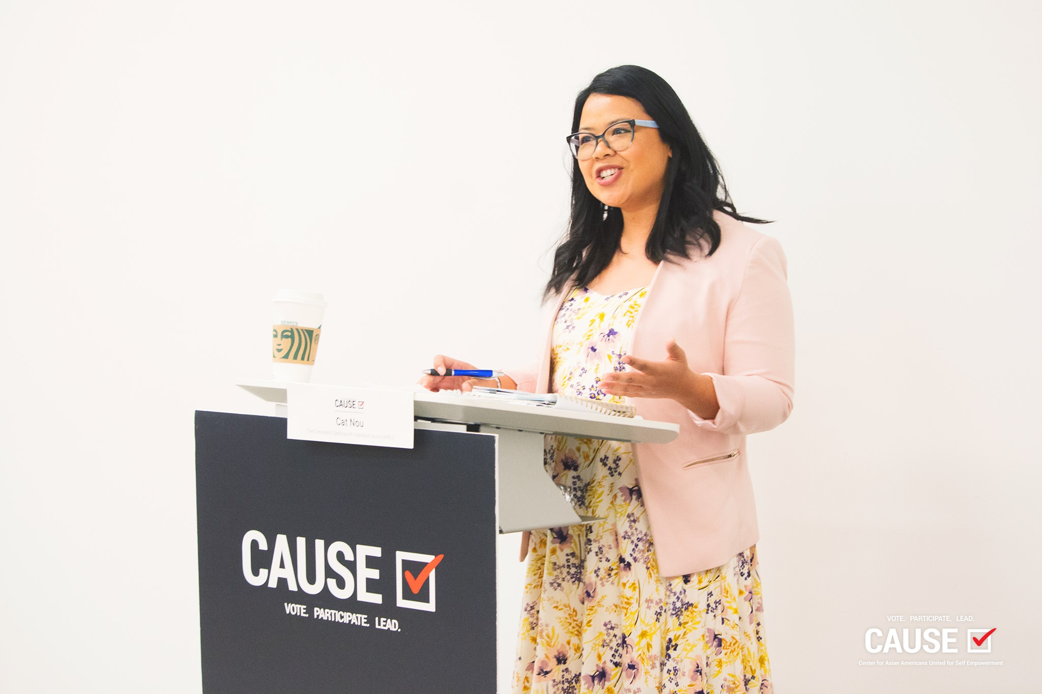Cat Nou speaking to the 2019 CAUSE Leadership Institute