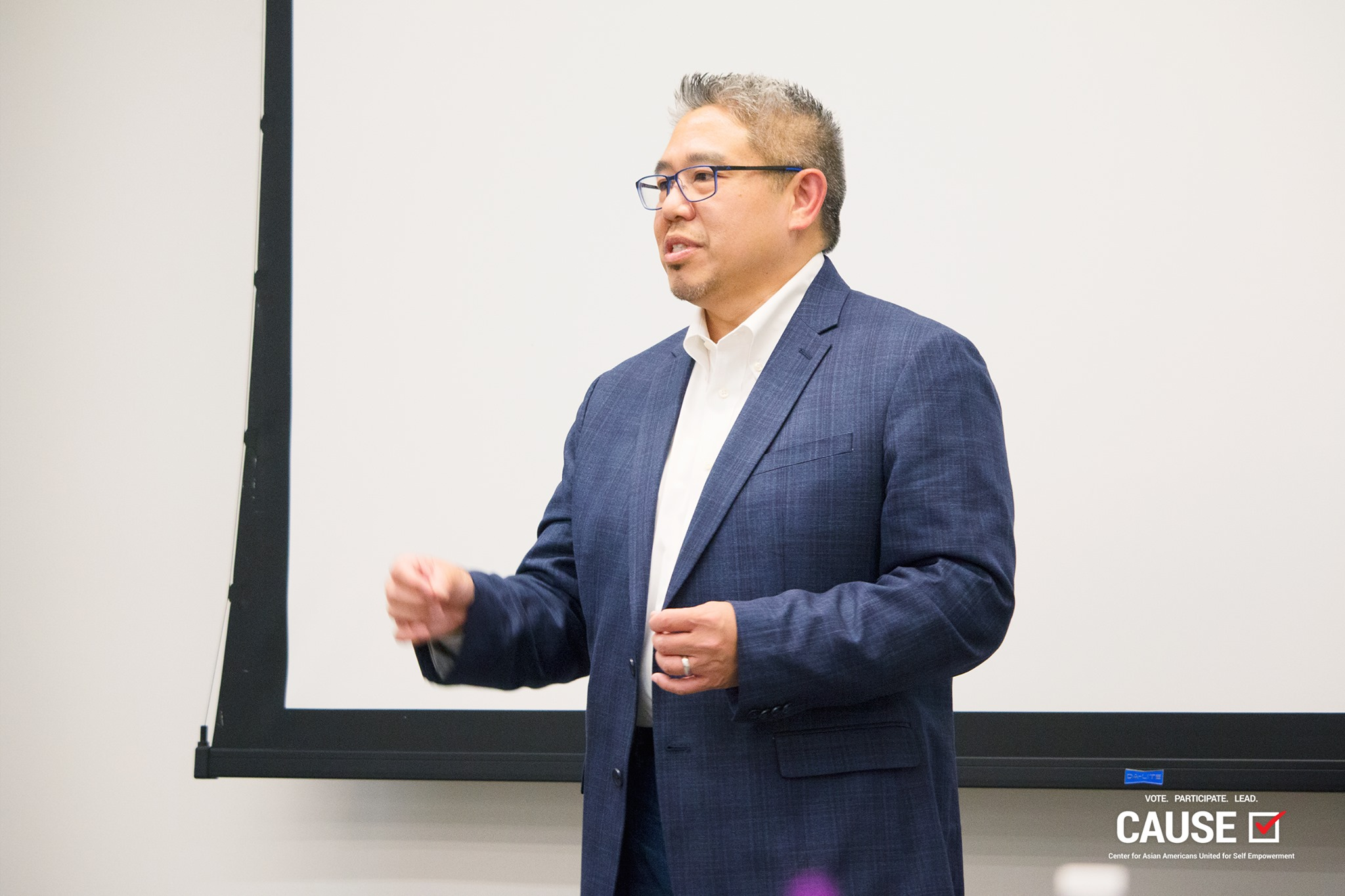 Bill Wong speaking to the 2019 CAUSE Leadership Institute