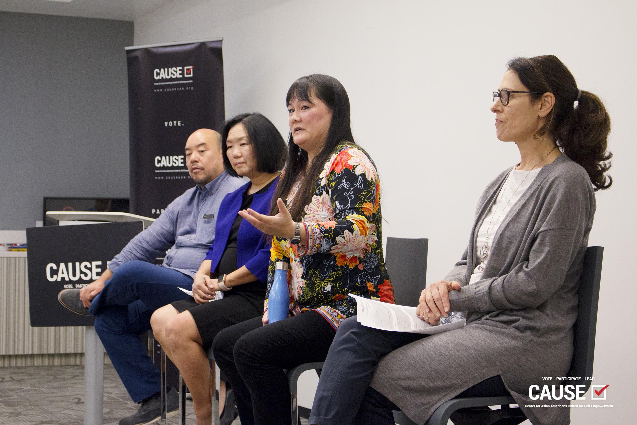 Grayce Liu speaking to the 2019 CAUSE Leadership Institute