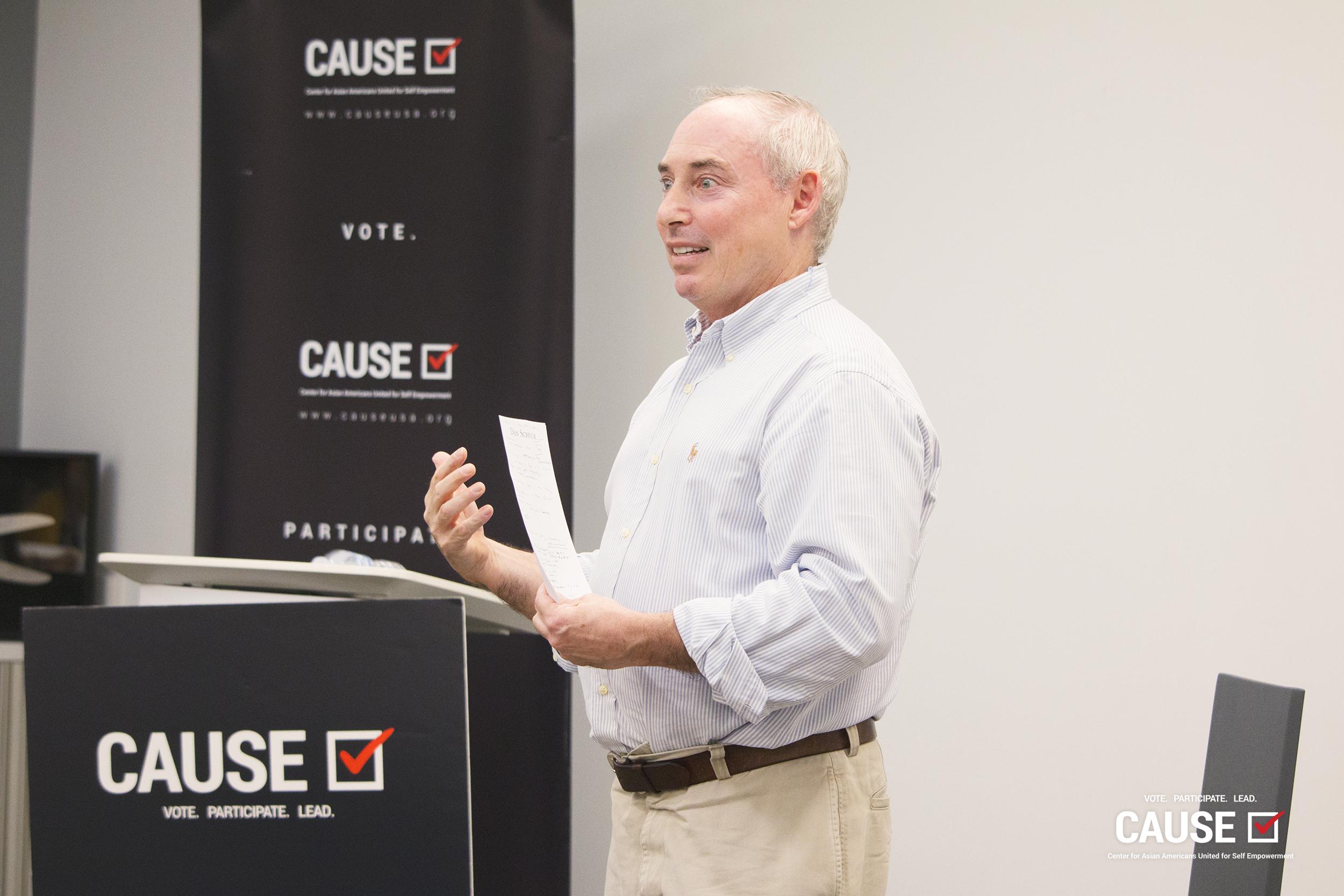 Dan Schnur speaking to the 2019 CAUSE Leadership Institute