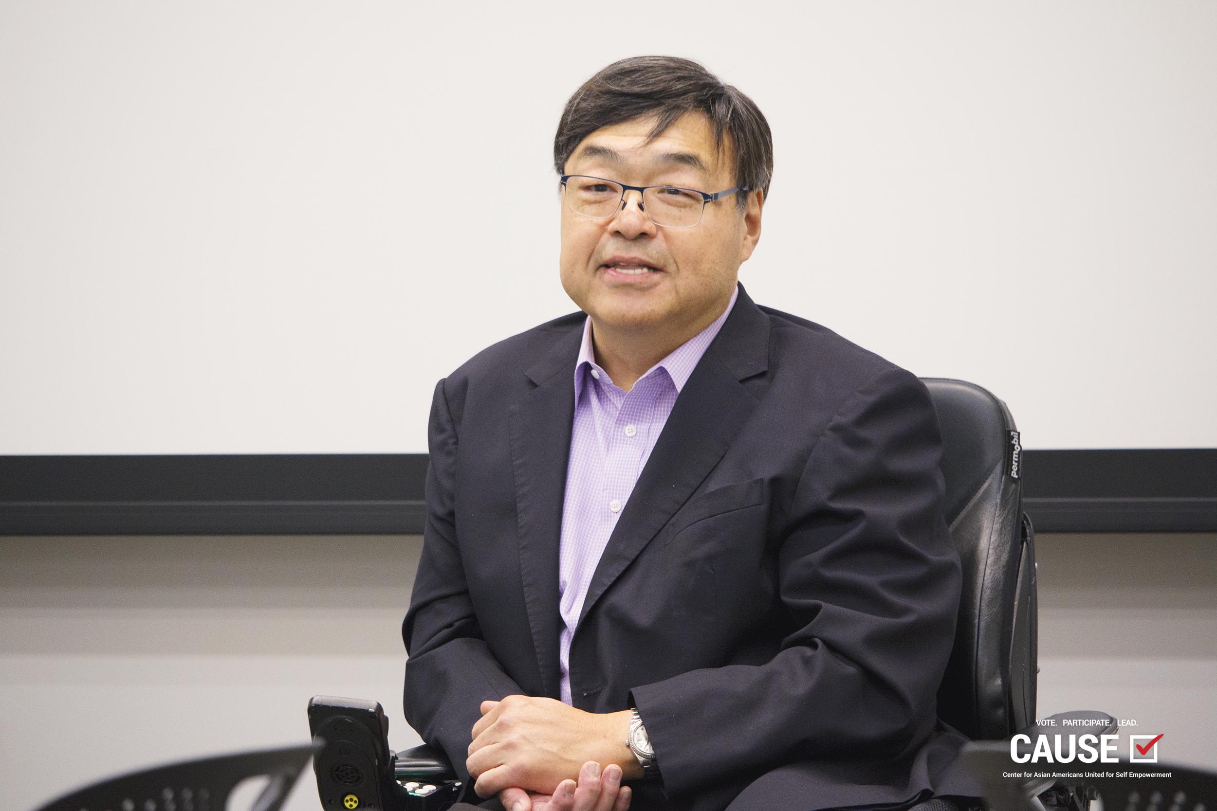Charlie Woo speaking to the 2019 CAUSE Leadership Institute