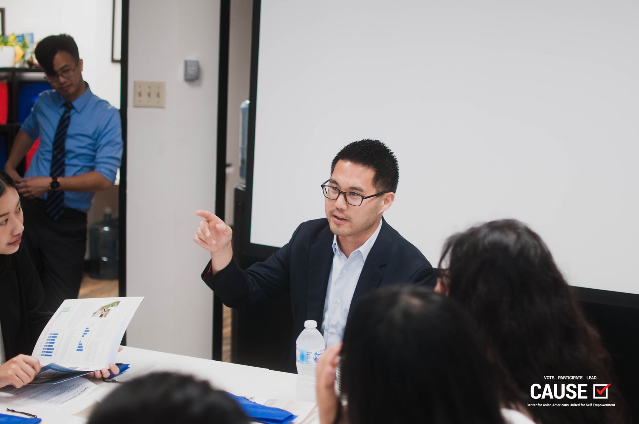 Thomas Wong speaking to the 2019 CAUSE Leadership Academy