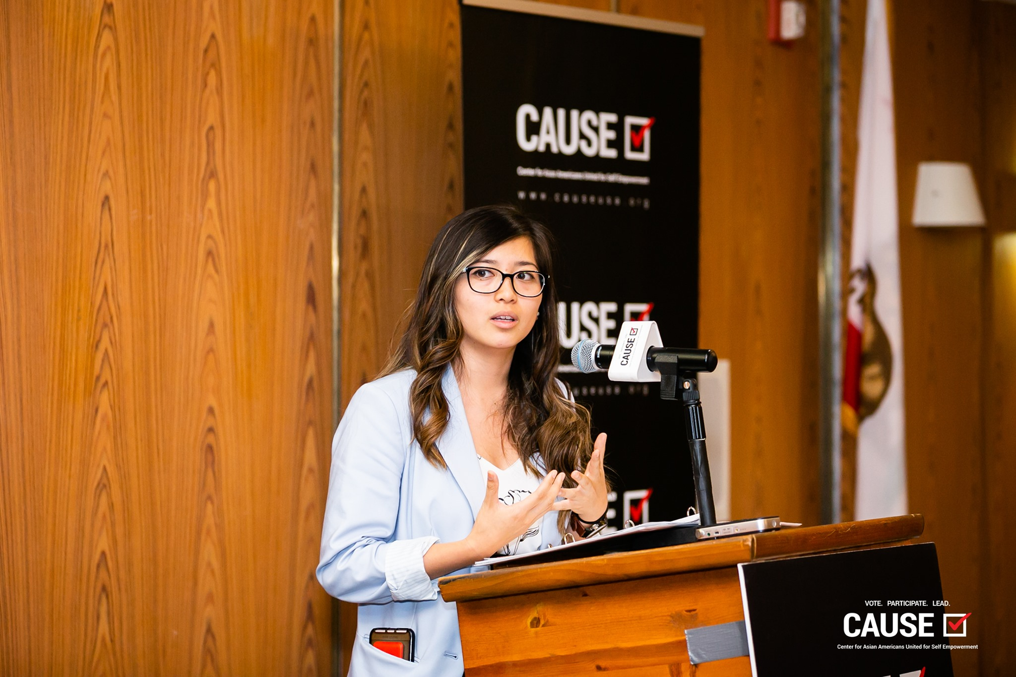 Erika Ngo speaking at the 2019 CAUSE Leadership Academy Kickoff