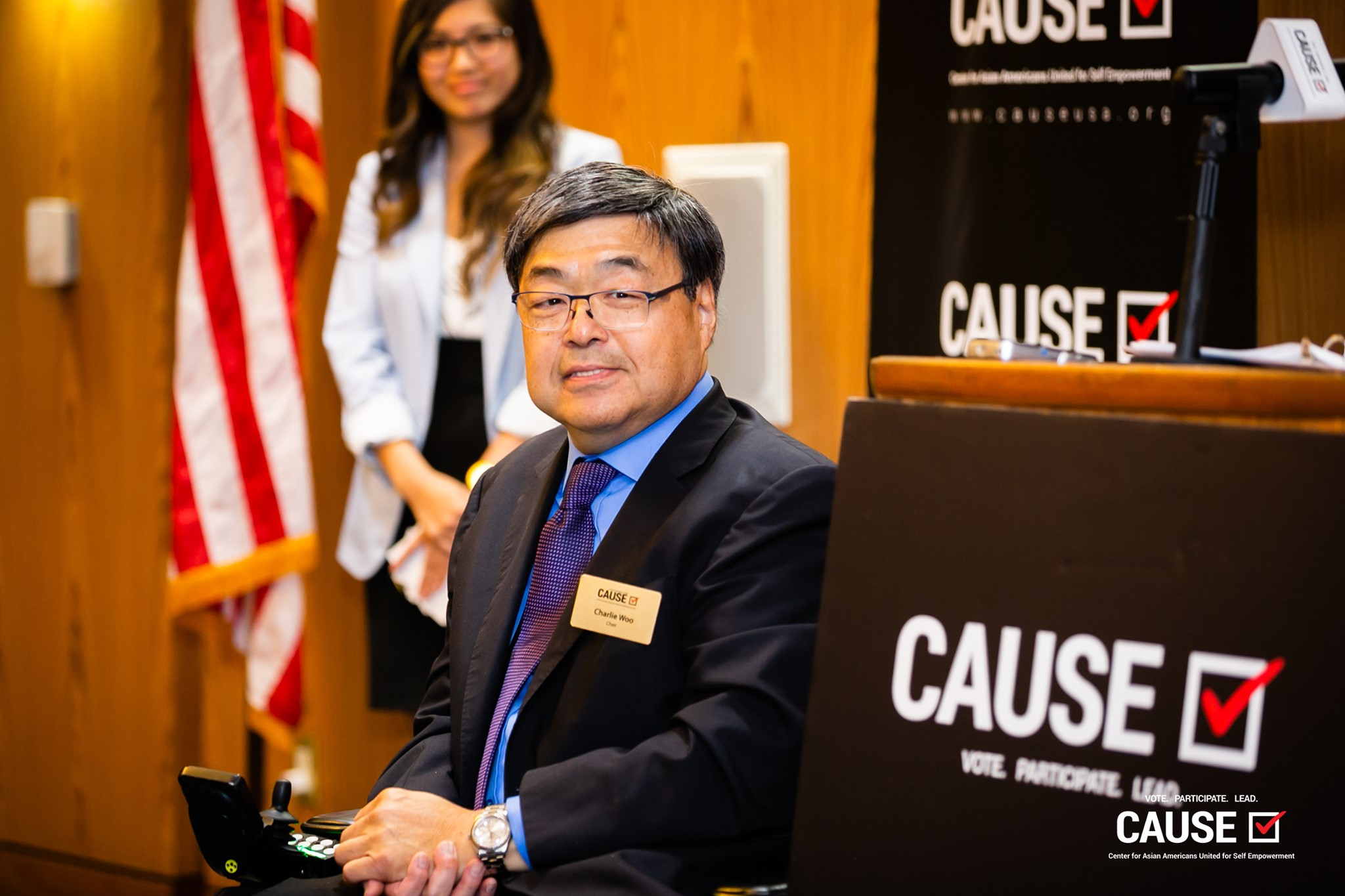 Charlie Woo speaking at the 2019 CAUSE Leadership Academy Kickoff