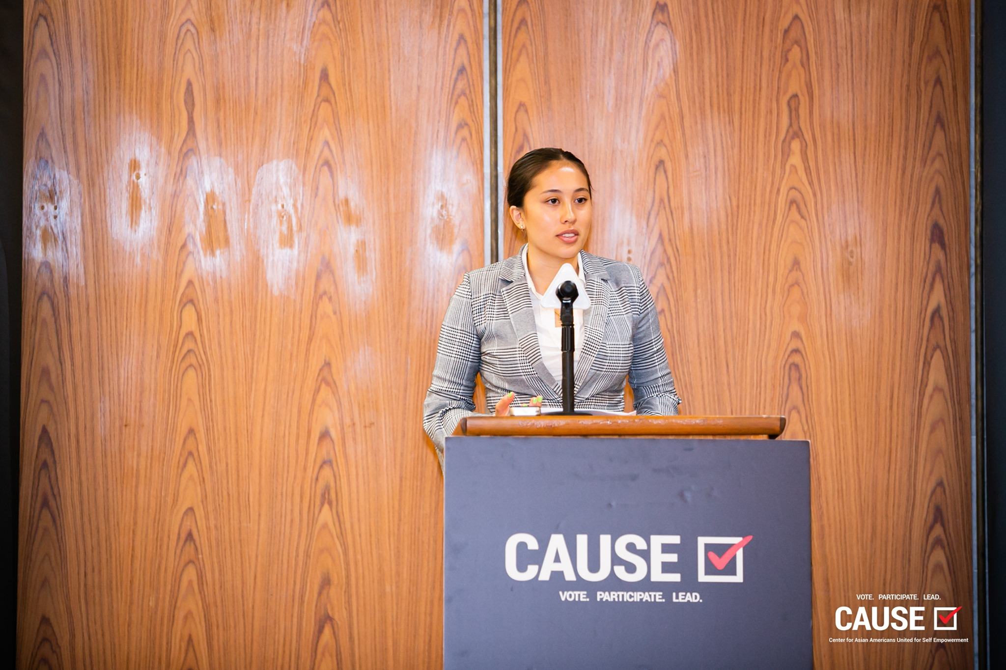 Olivia Dulai speaking at the 2019 CAUSE Leadership Academy Kickoff