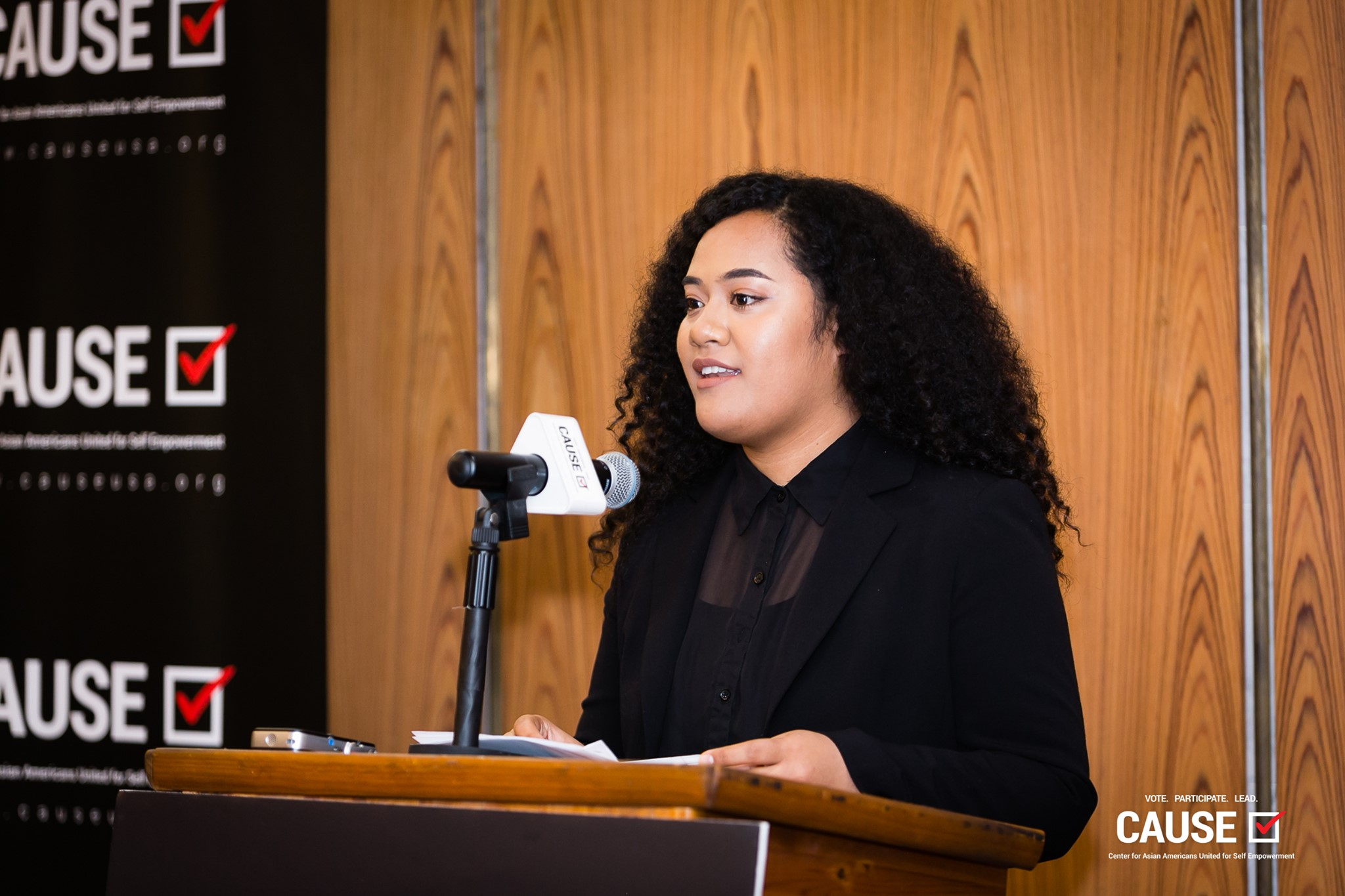 Maamaloa Finau speaking at the 2019 CAUSE Leadership Academy Kickoff