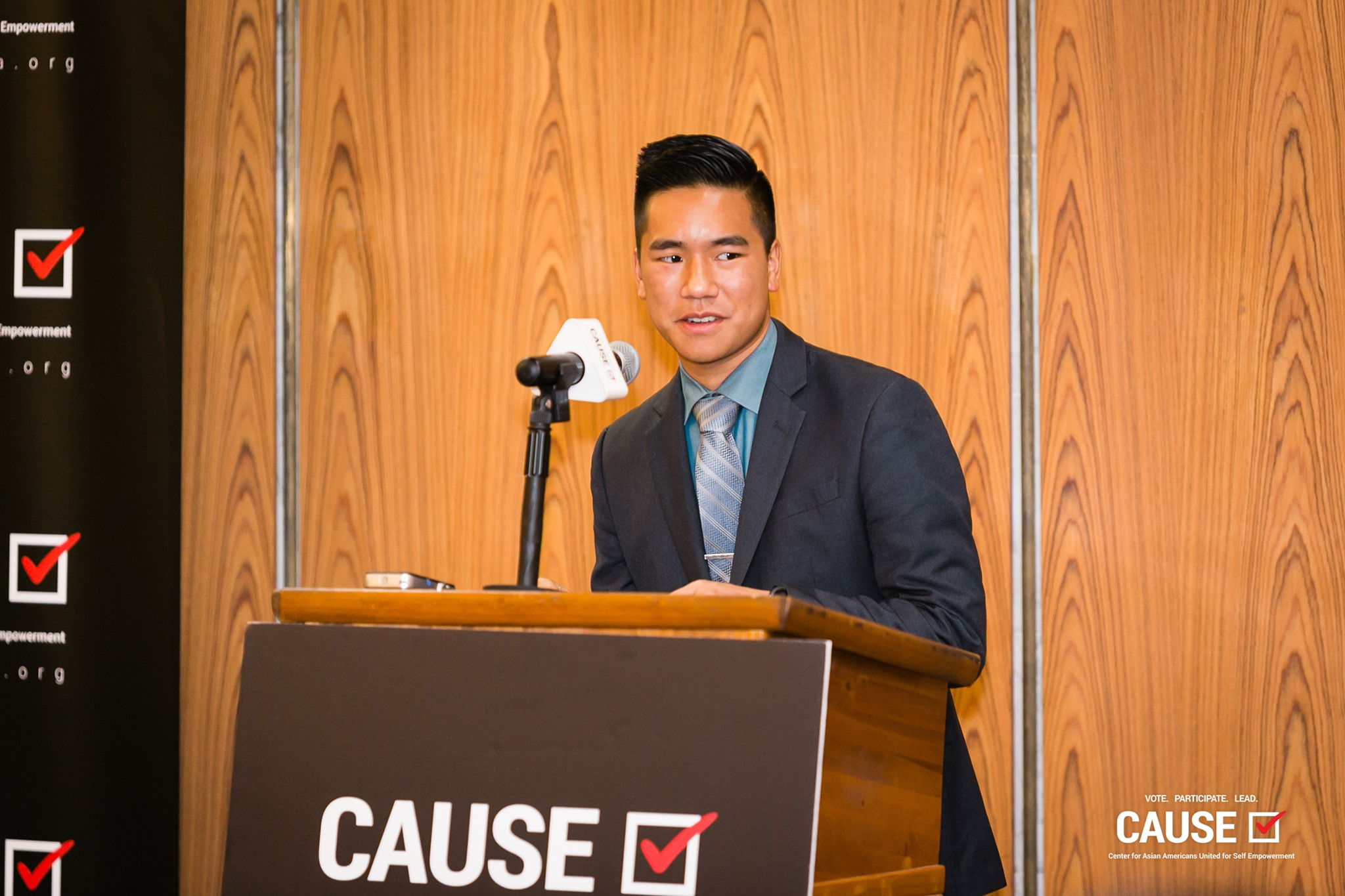 Brandon Tabata speaking at the 2019 CAUSE Leadership Academy Kickoff