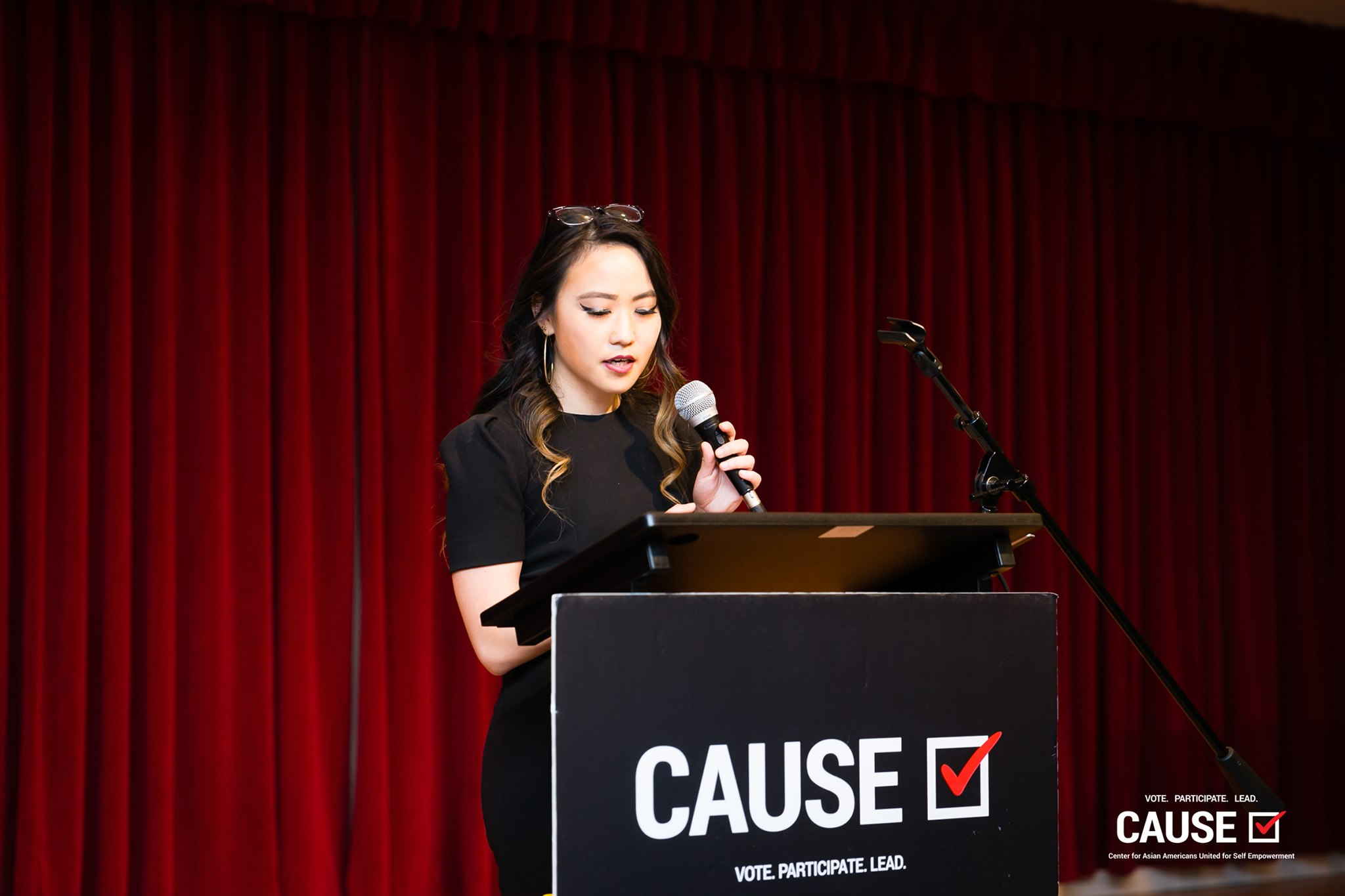 Kim Yamasaki speaking at the 2019 CAUSE Leadership Institute Graduation