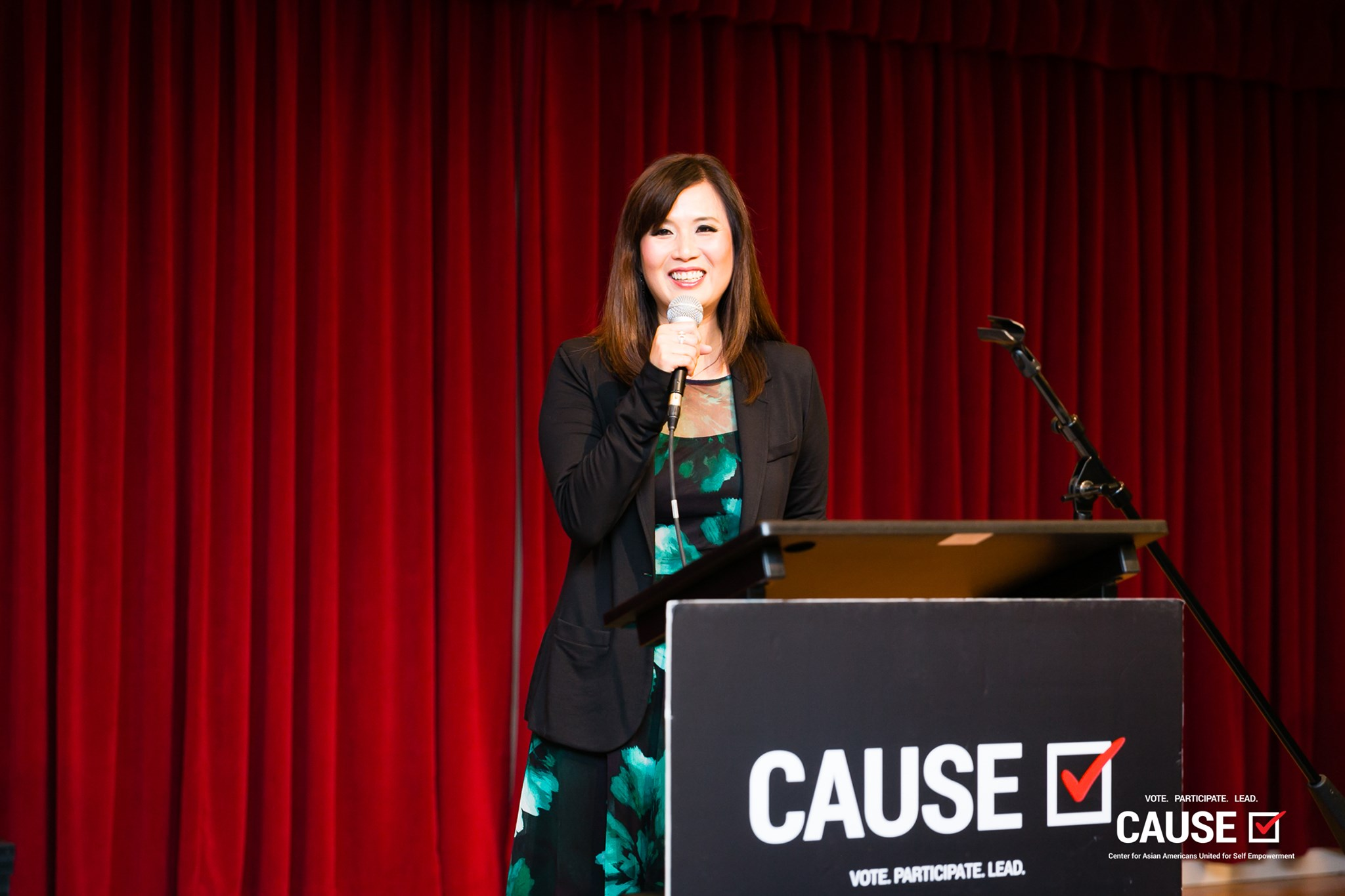 Renee Chang speaking at the 2019 CAUSE Leadership Institute Graduation
