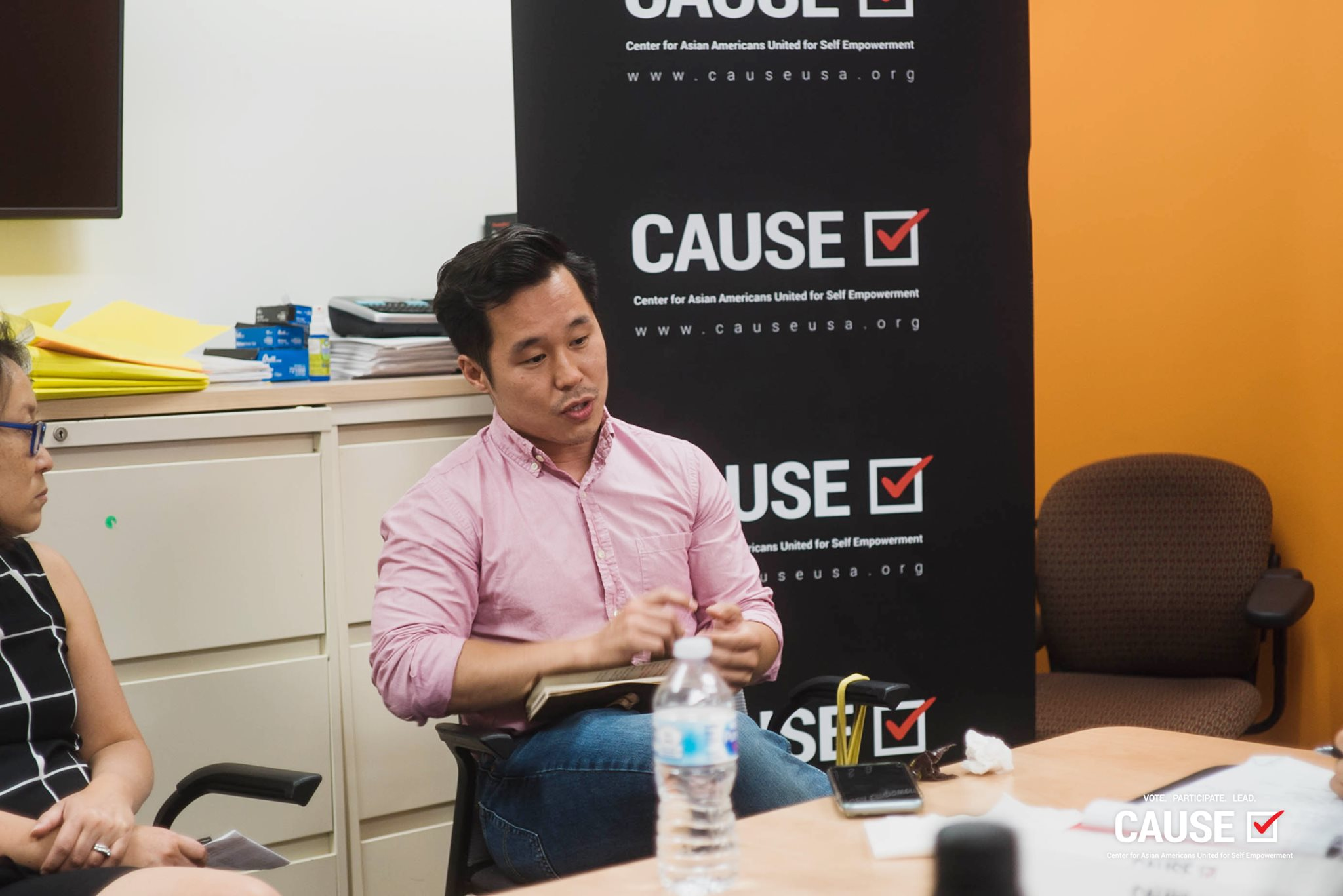 John Yi speaking to the 2019 CAUSE Leadership Academy