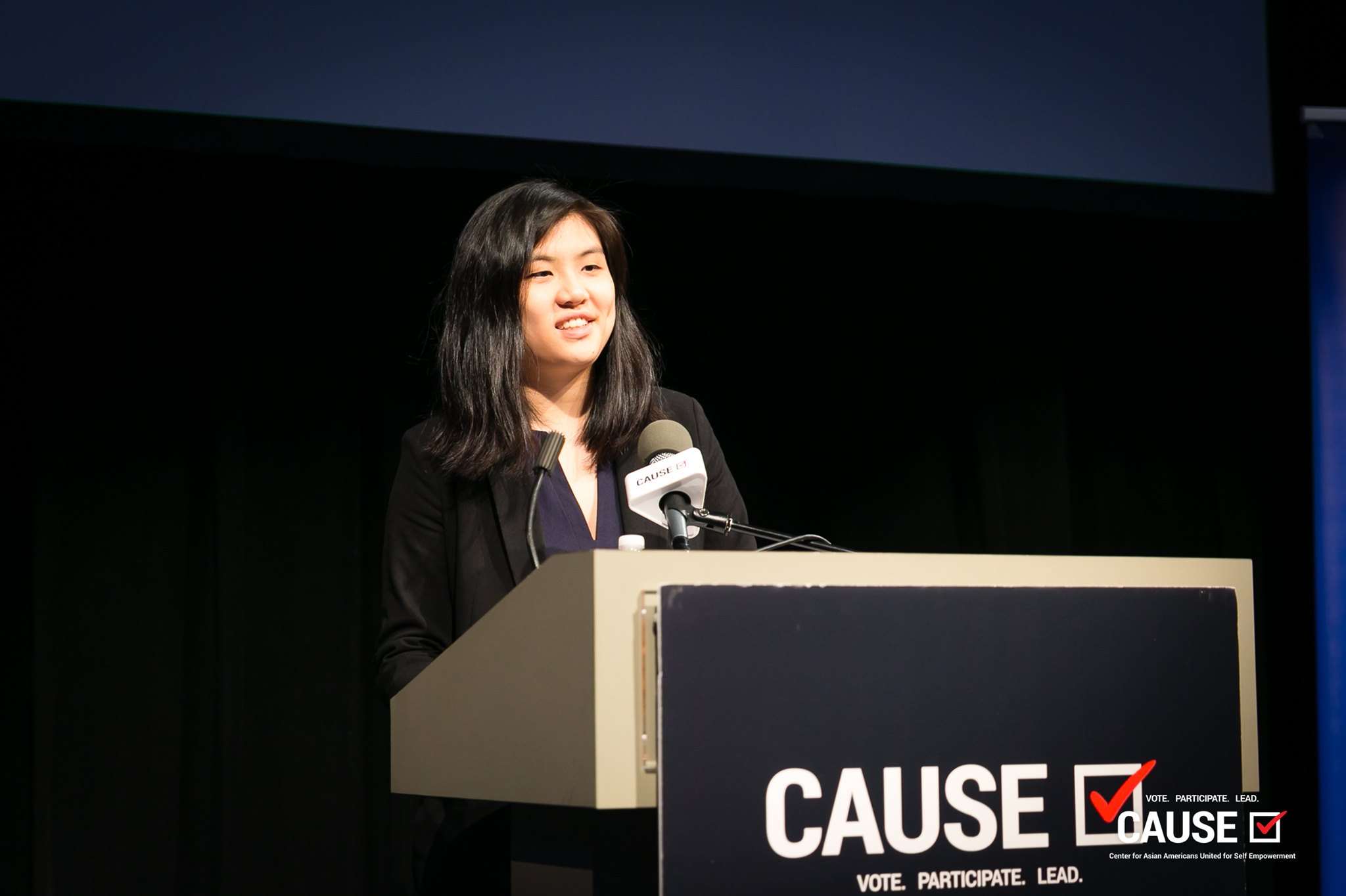 Diana Lam speaking at the 2019 CAUSE Leadership Academy Graduation