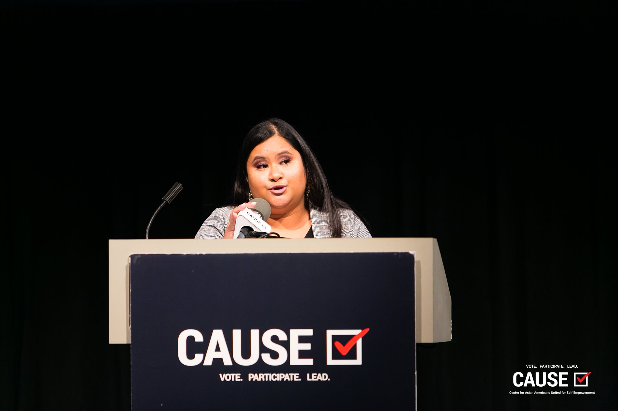 Audrey Soriano speaking at the 2019 CAUSE Leadership Academy Graduation