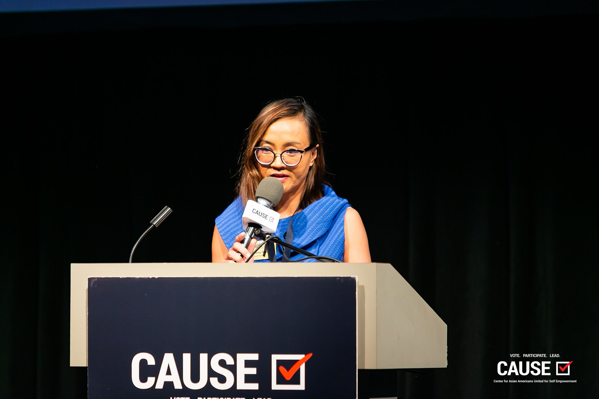 Tammy Tran speaking at the 2019 CAUSE Leadership Academy Graduation
