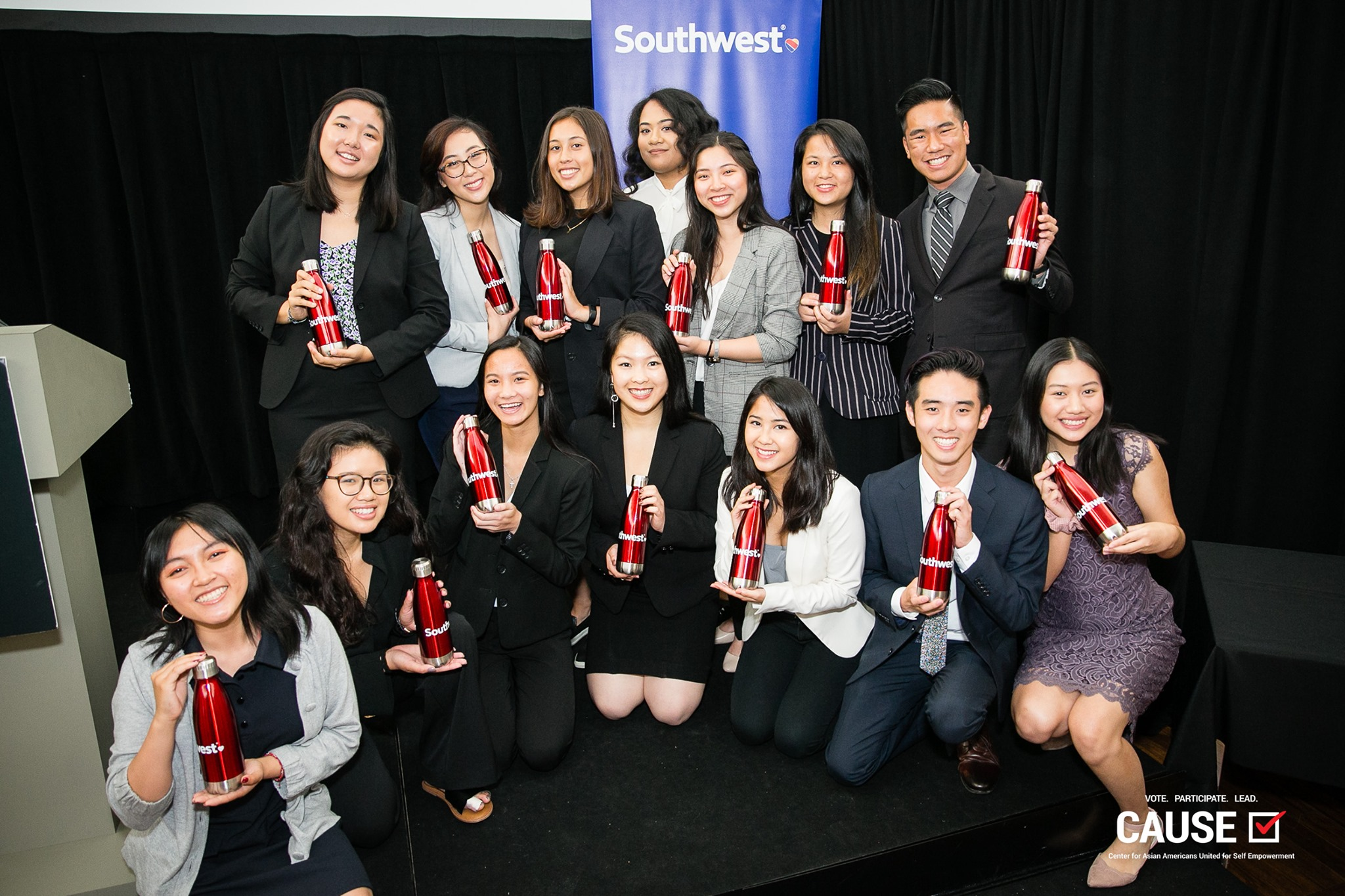 2019 CAUSE Leadership Academy interns and Southwest Airlines