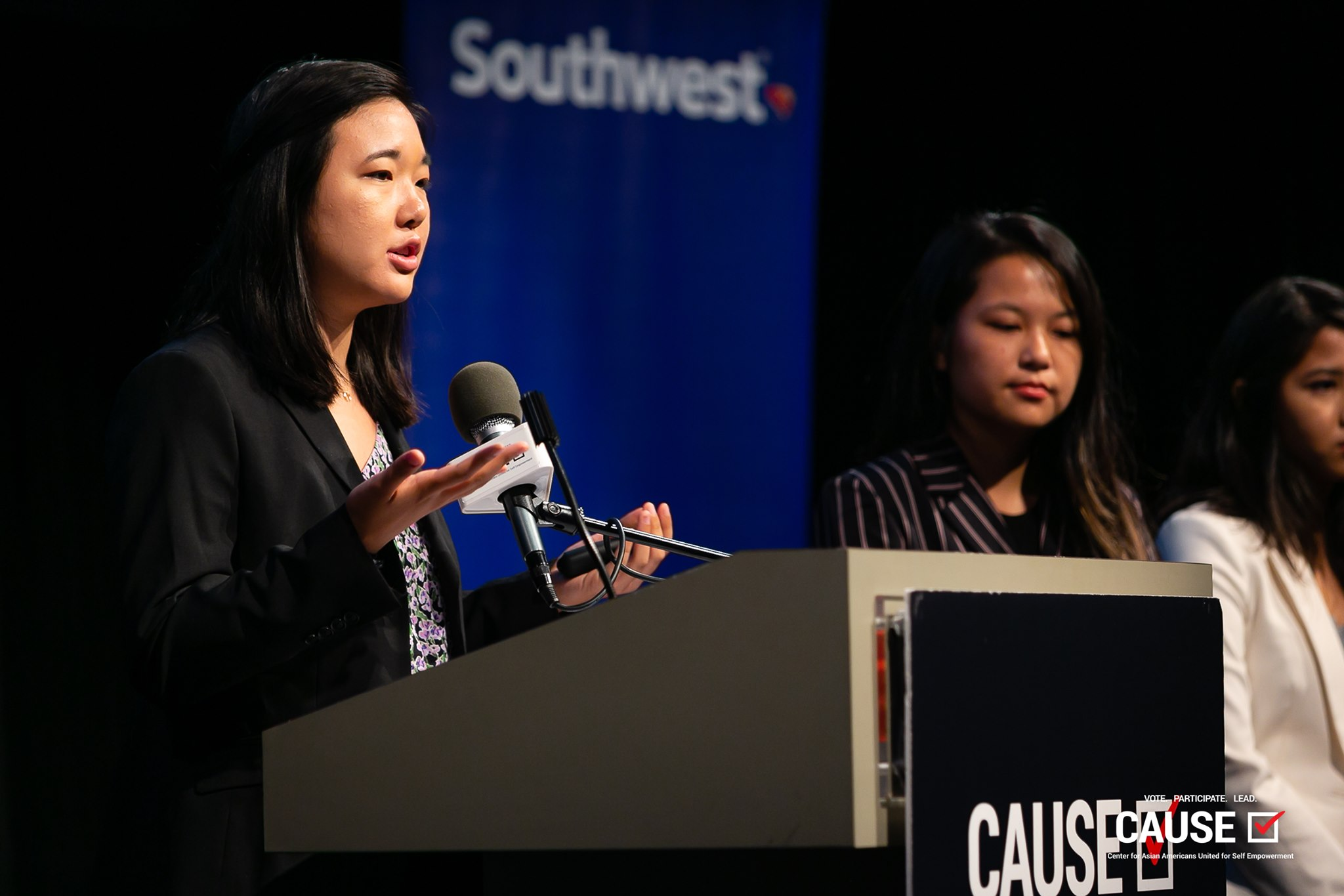 Amanda Yuen speaking at the 2019 CAUSE Leadership Academy Graduation