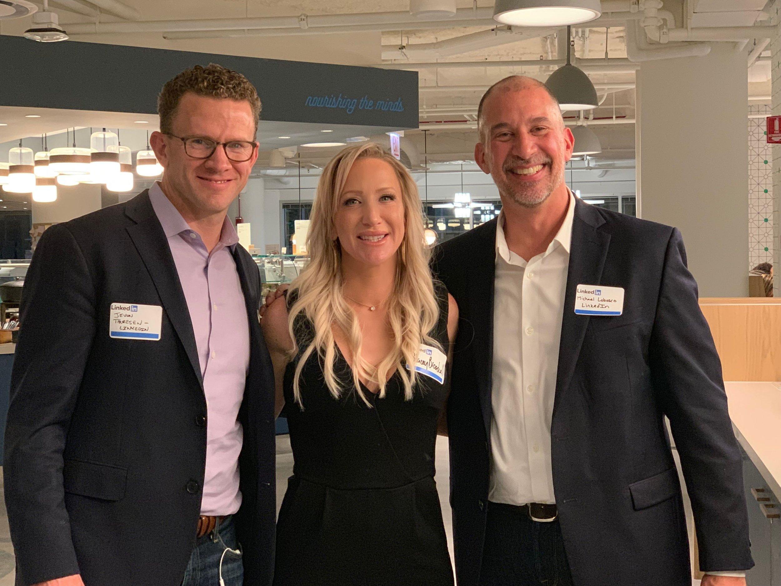 Stacey Broadwell at Linkedin HQ w/ Jevon & Michael